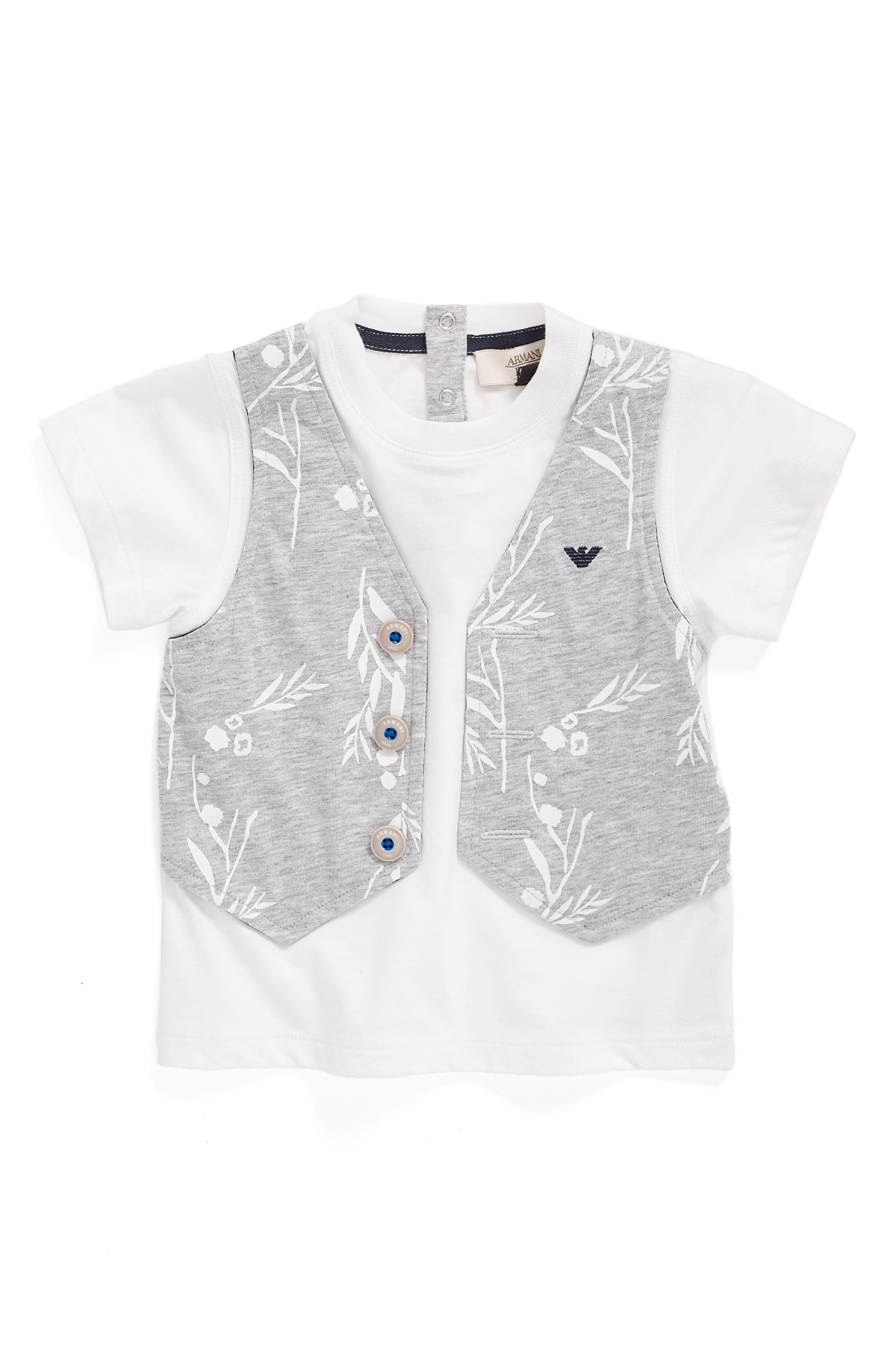 Armani Junior Faux Vest T-Shirt (Baby Boys)