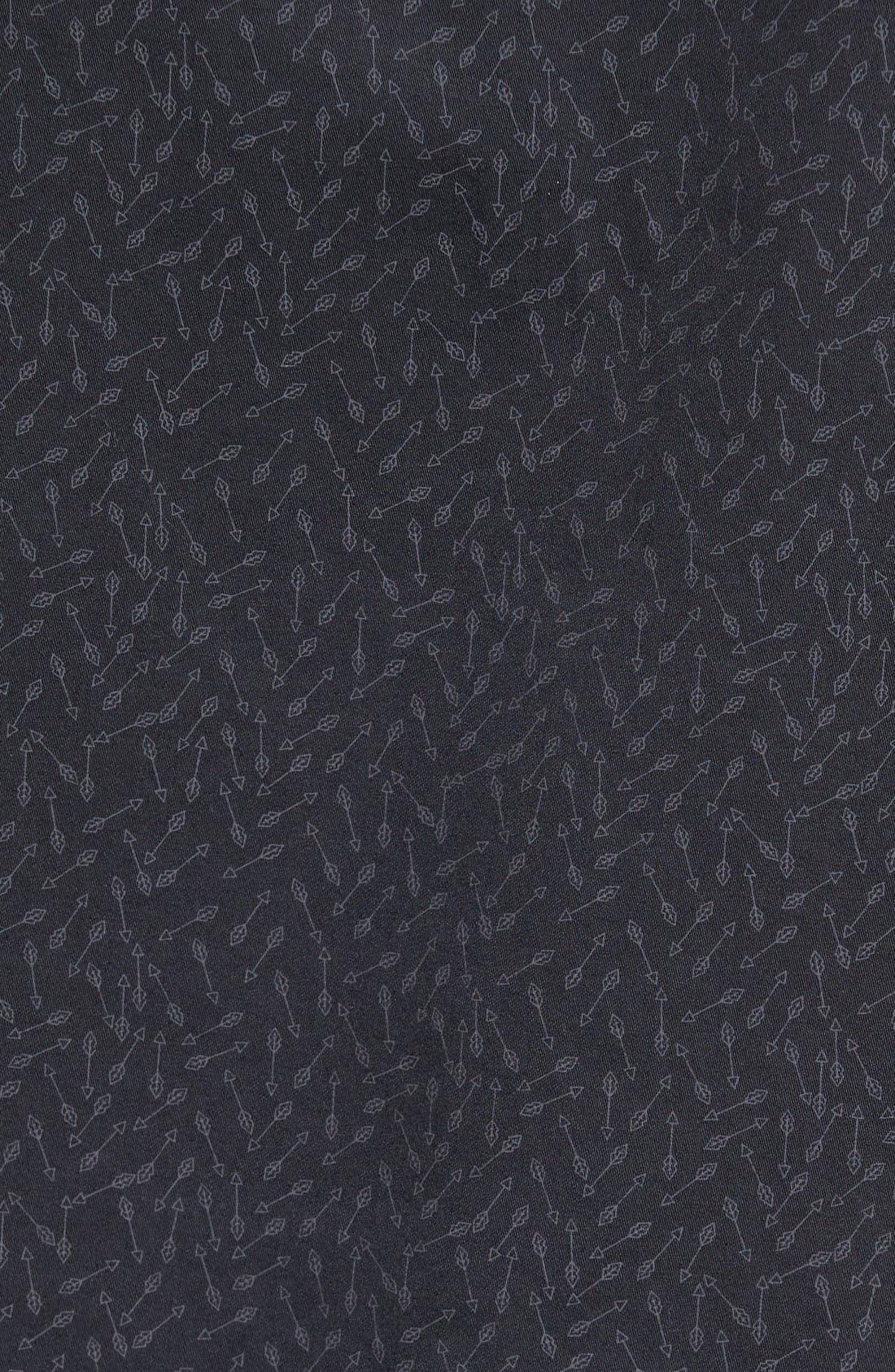 Alternate Image 5  - Slate & Stone Slim Fit Arrow Print Sport Shirt