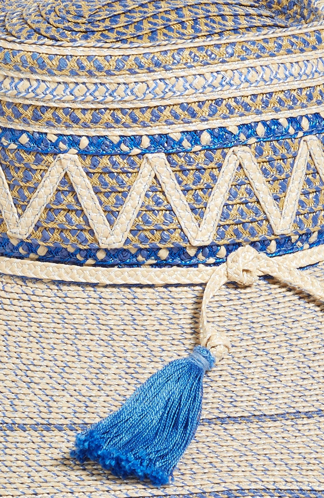 Palermo Squishee<sup>®</sup> Wide Brim Hat,                             Alternate thumbnail 2, color,                             Cream/ Blue Tweed