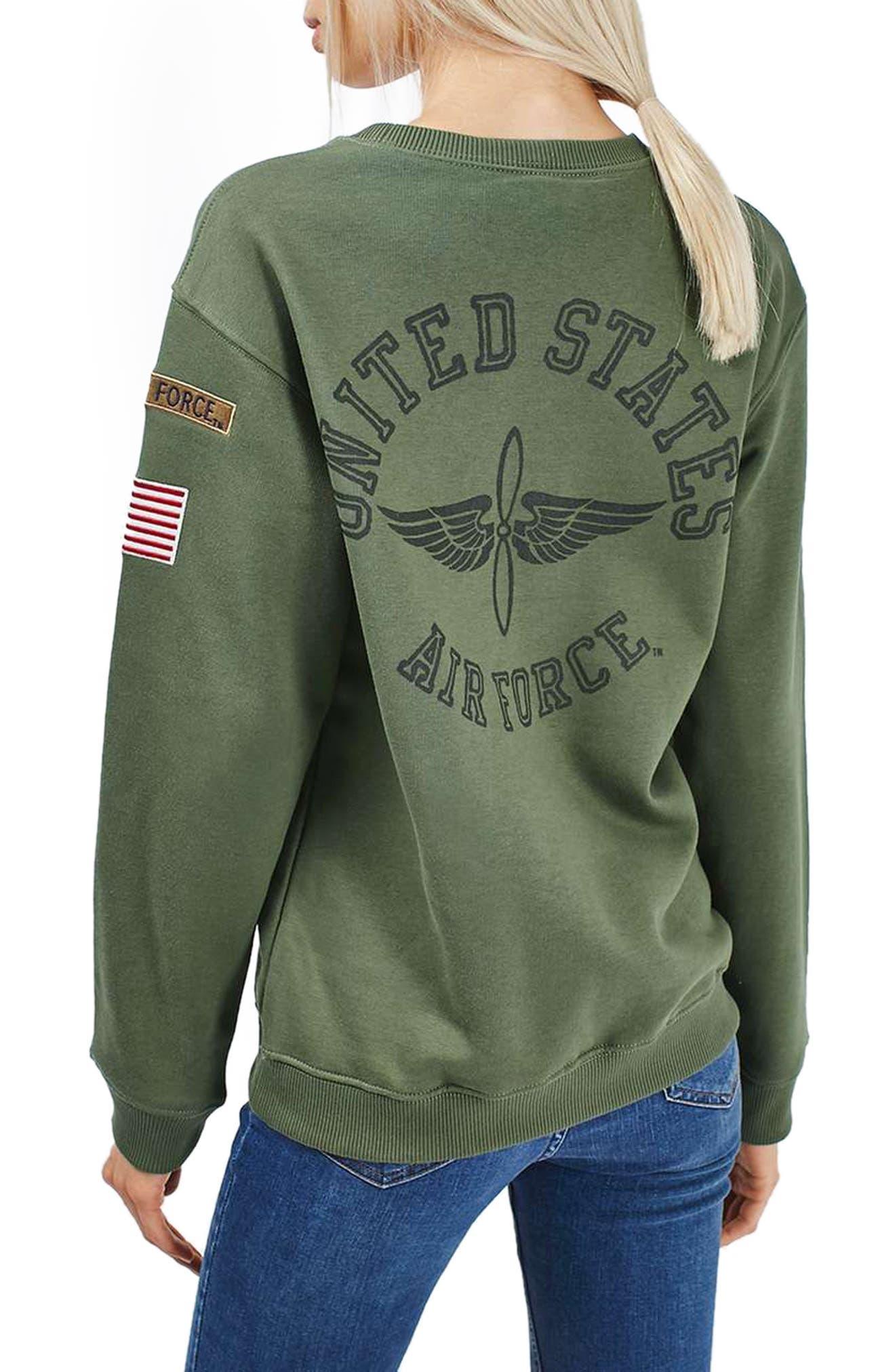 Alternate Image 2  - Topshop by Tee & Cake Air Force Sweatshirt