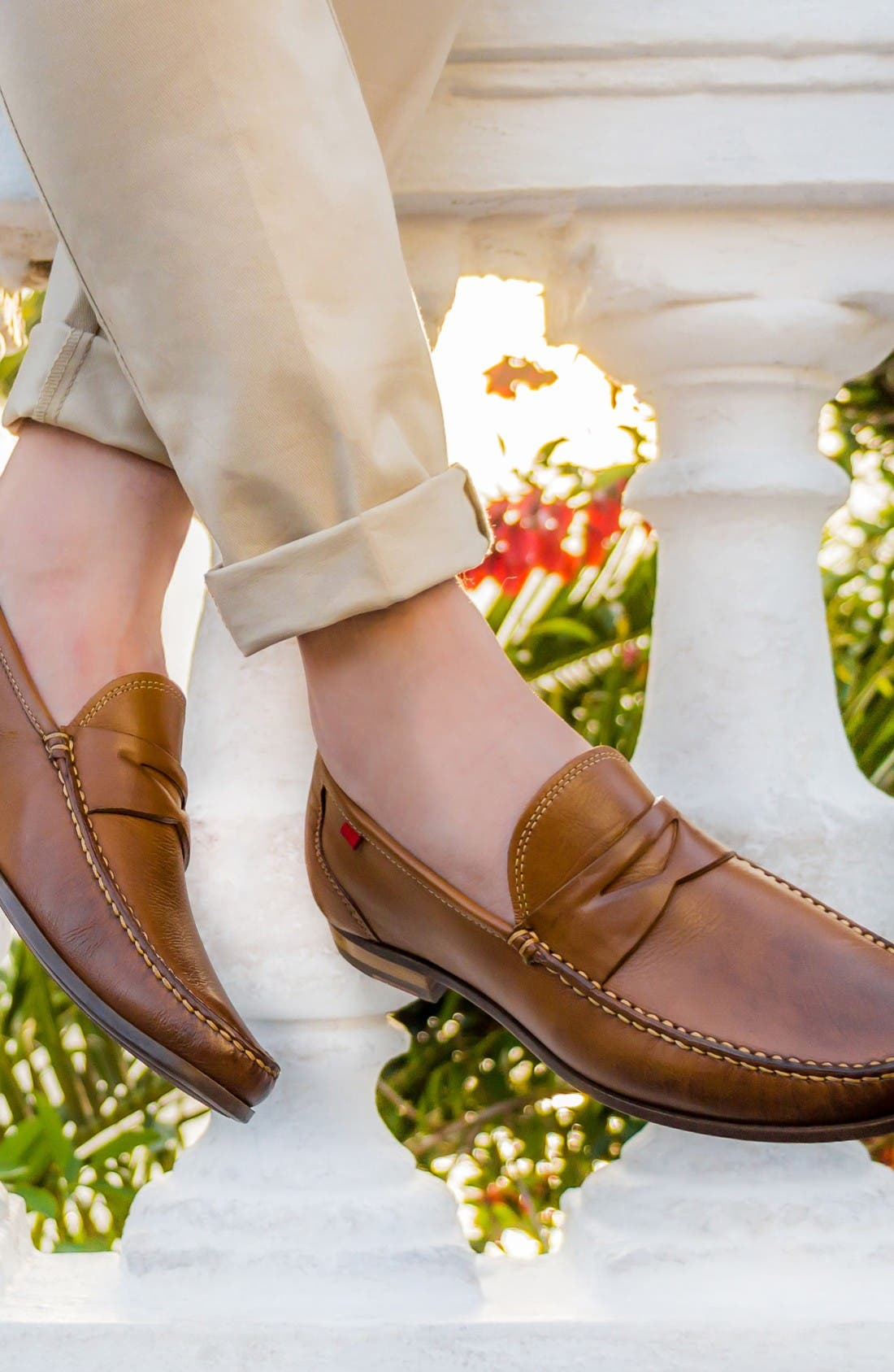 Penny Loafer,                             Alternate thumbnail 5, color,                             Brown Leather