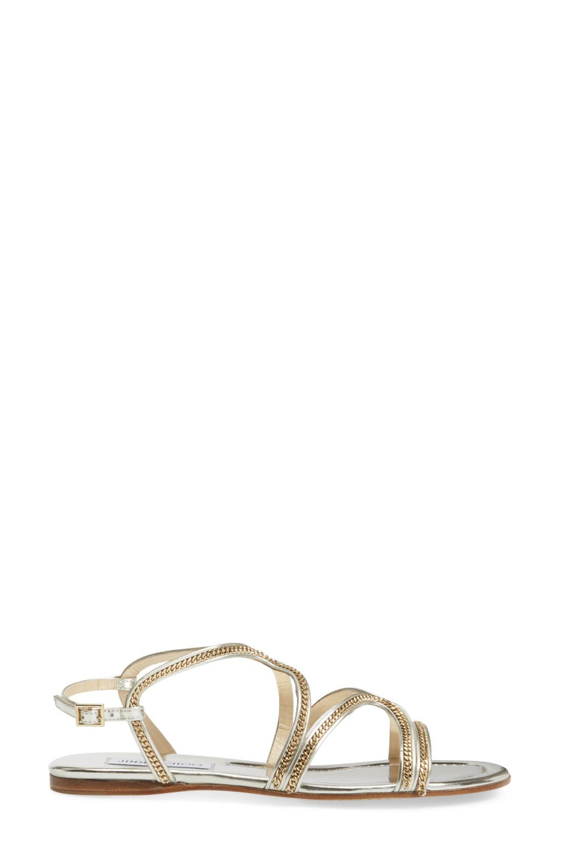 Alternate Image 4  - Jimmy Choo Nickel Flat Sandal (Women)