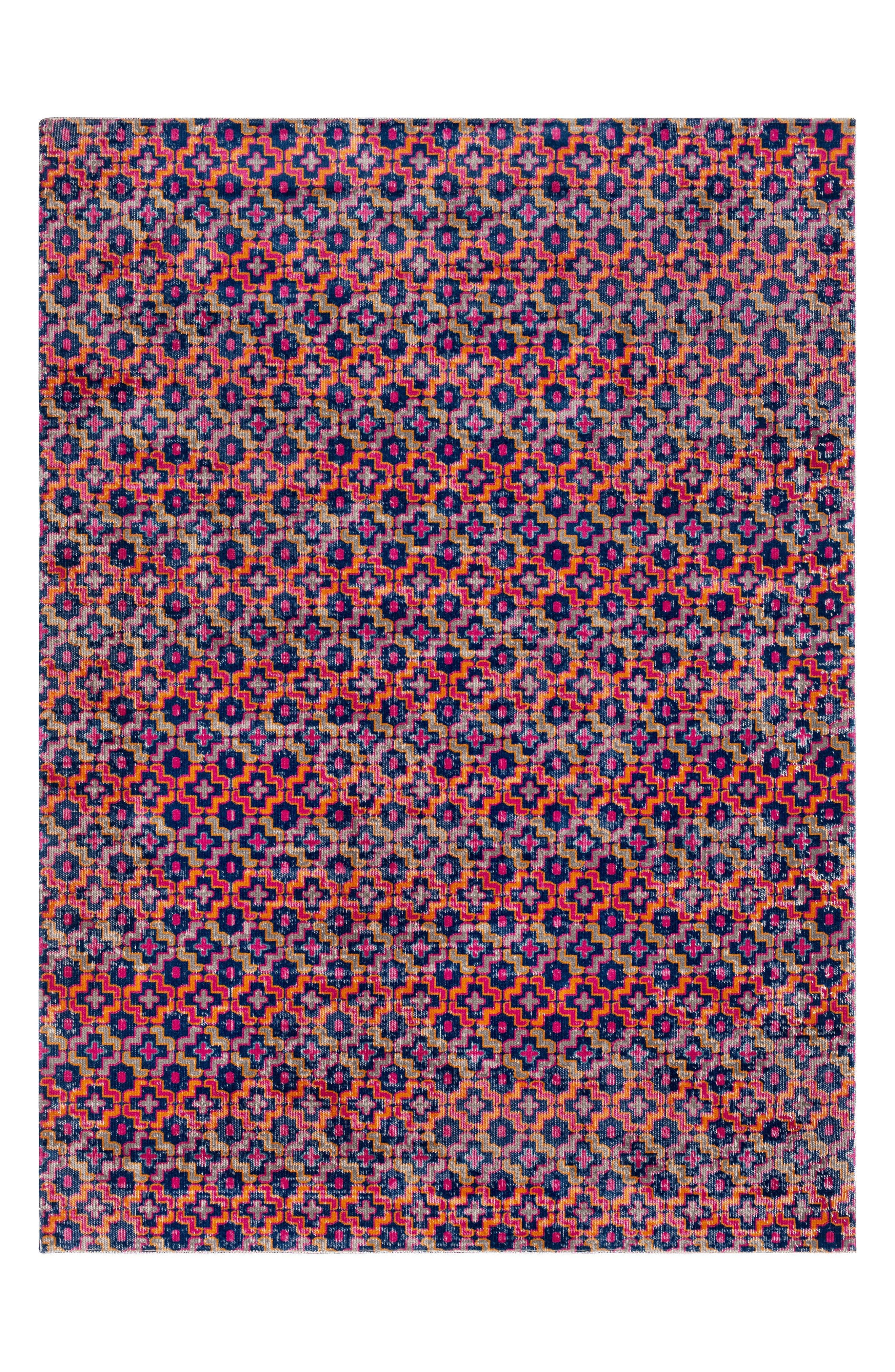 Tessera Vevica Global Rug,                         Main,                         color, Pink/ Navy