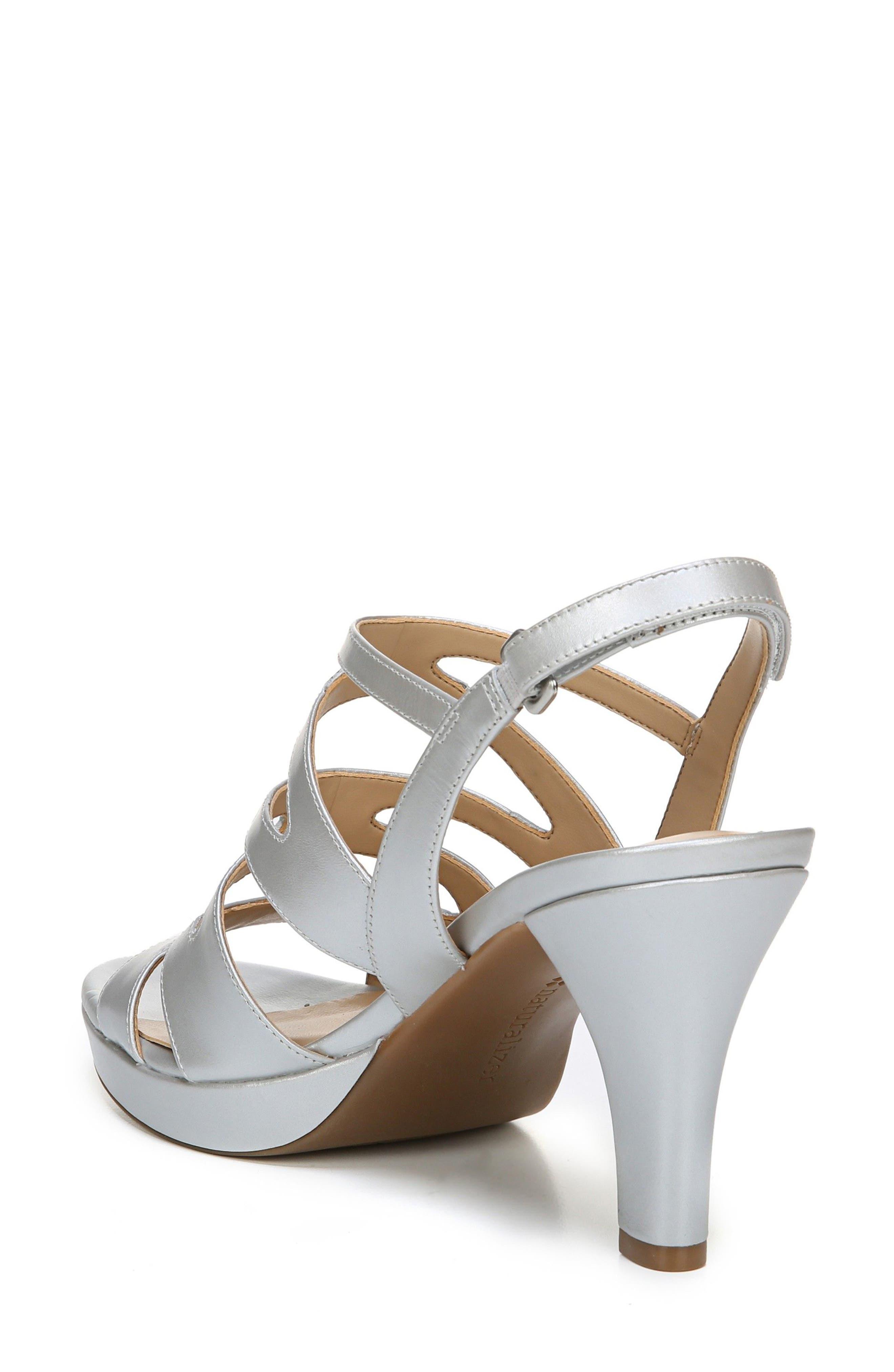 'Pressley' Slingback Platform Sandal,                             Alternate thumbnail 2, color,                             Silver Leather