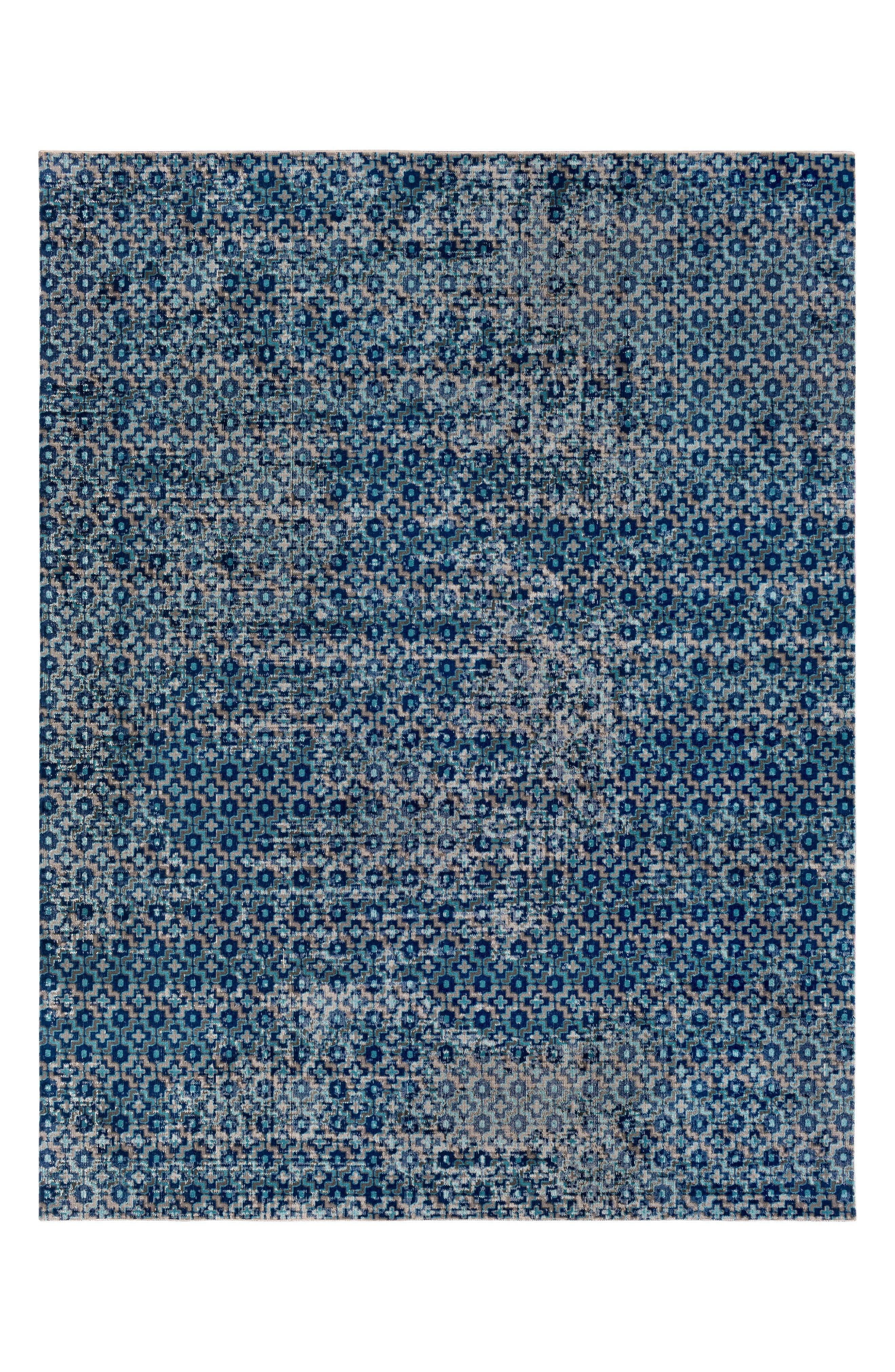 Tessera Antique Rug,                             Main thumbnail 1, color,                             Navy