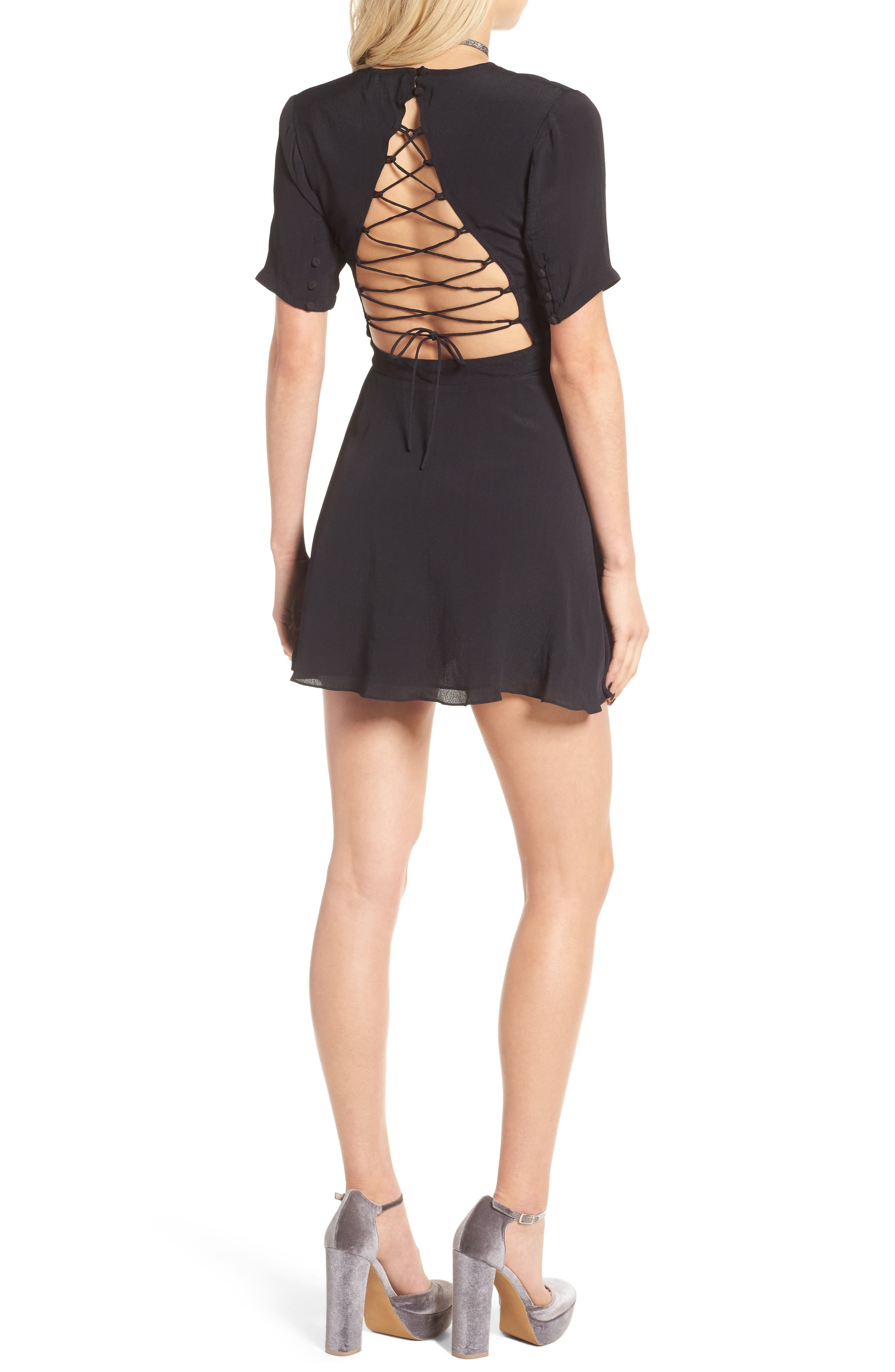 Main Image - Privacy Please Virginia Lace-Up Back Dress