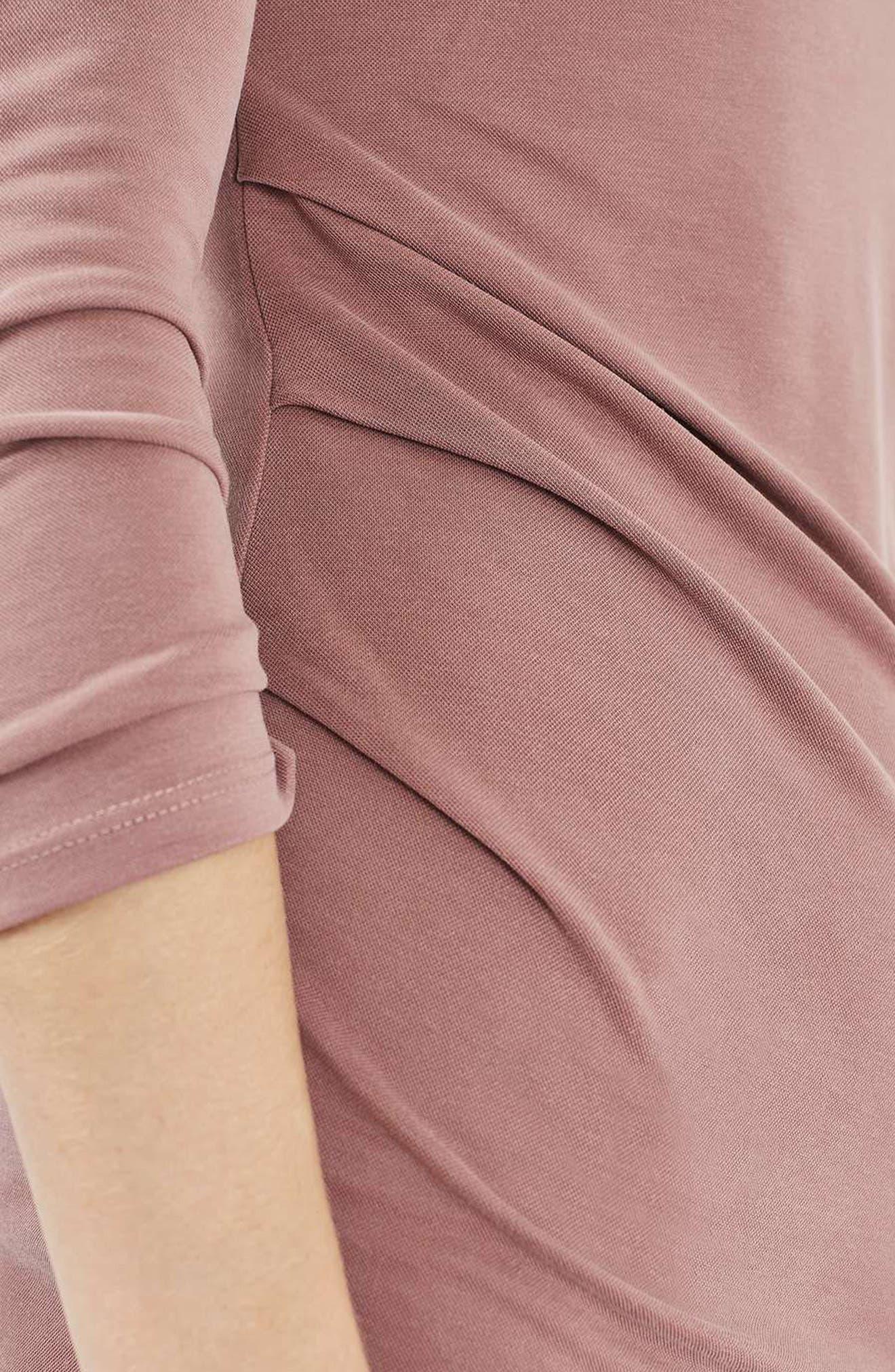 Alternate Image 6  - Topshop Drape Midi Dress