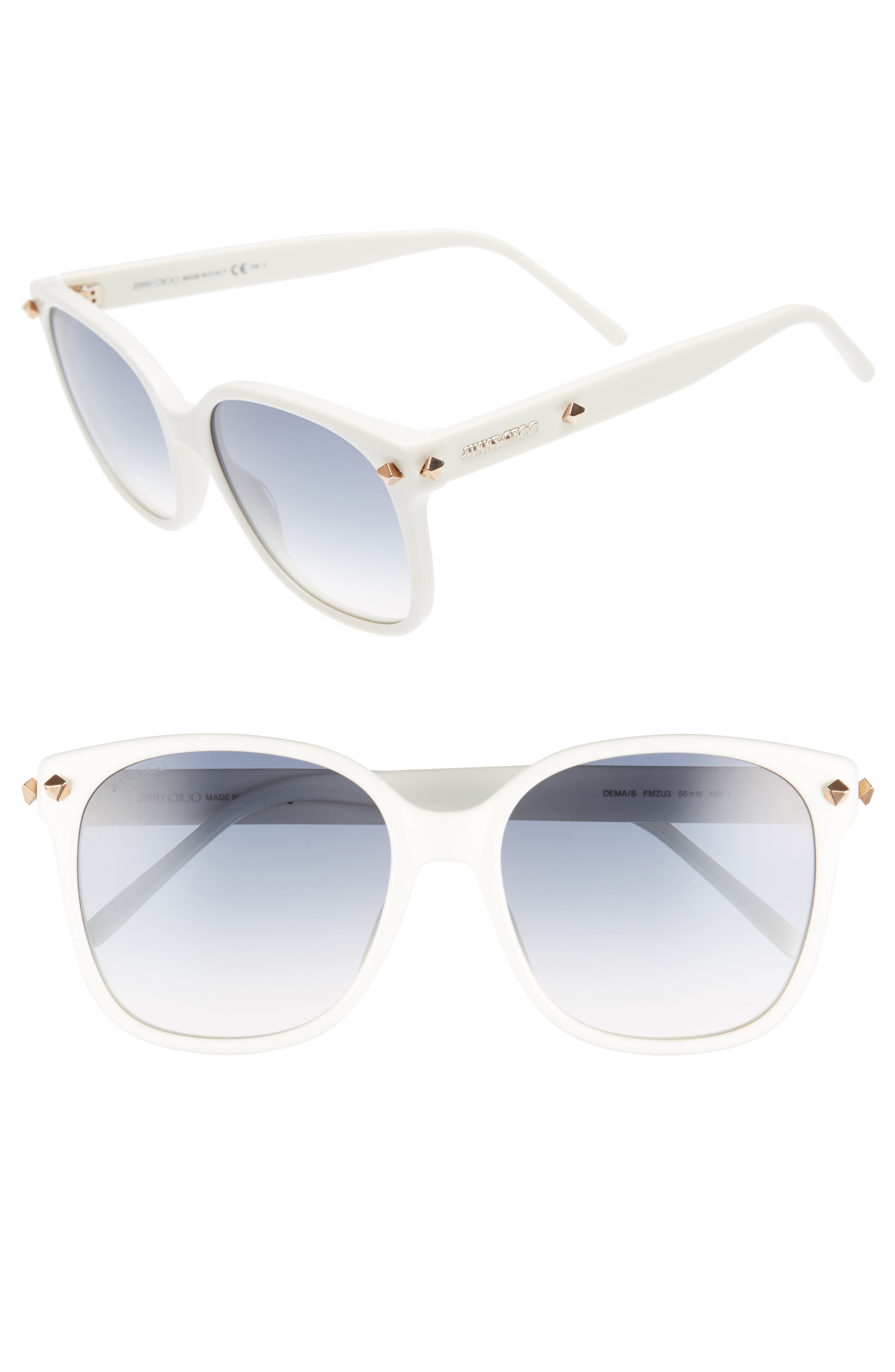 Main Image - Jimmy Choo Demas 56mm Sunglasses