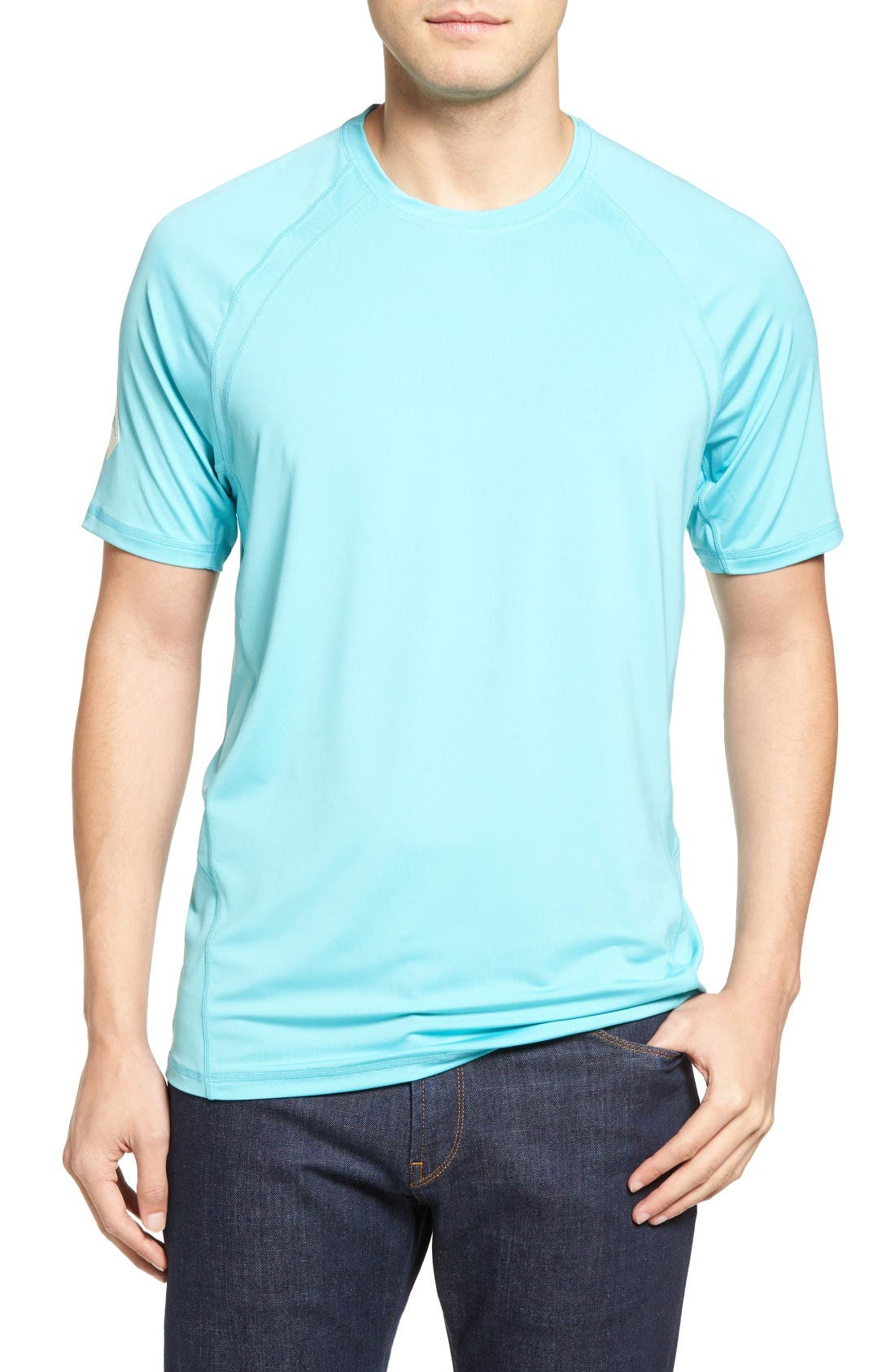 Surf Chaser Crewneck T-Shirt,                             Main thumbnail 1, color,                             Blue Radiance