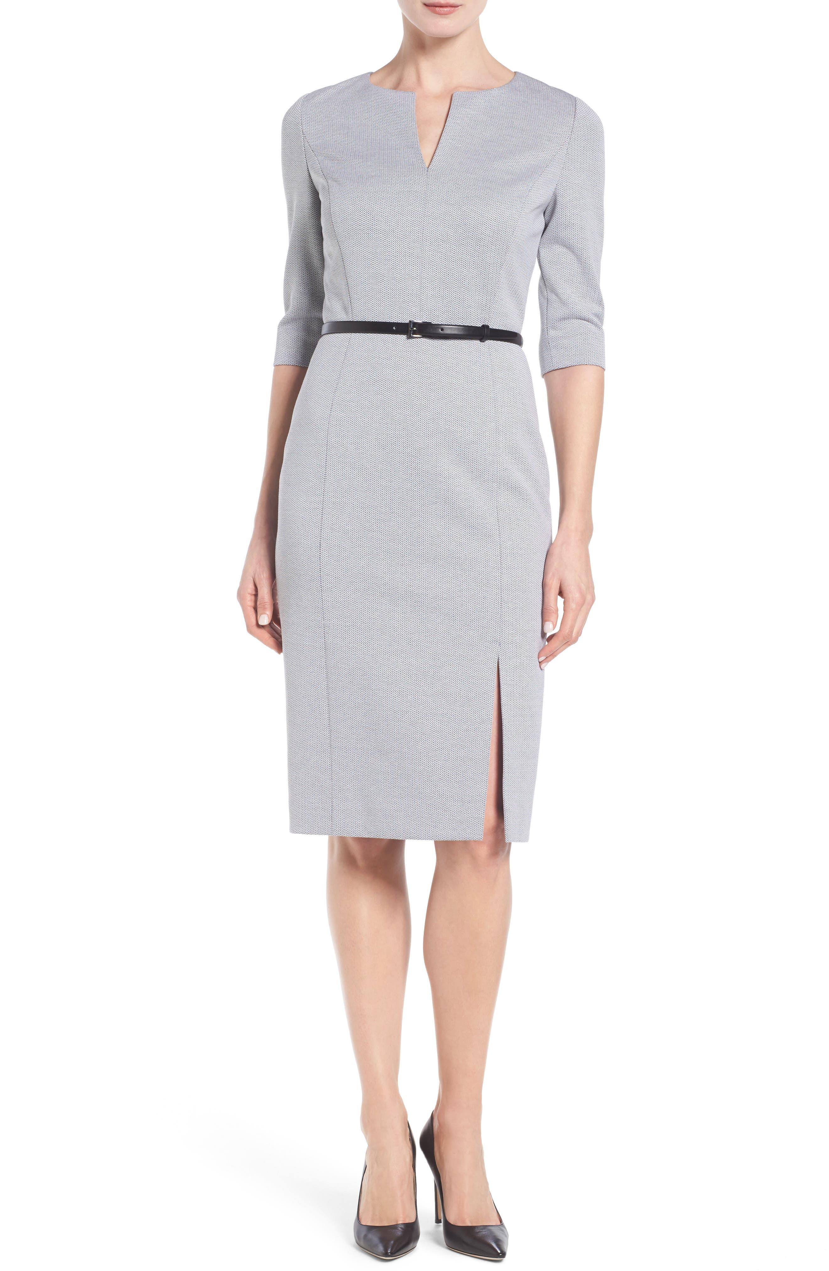 Alternate Image 1 Selected - Classiques Entier® Stretch Knit Sheath Dress