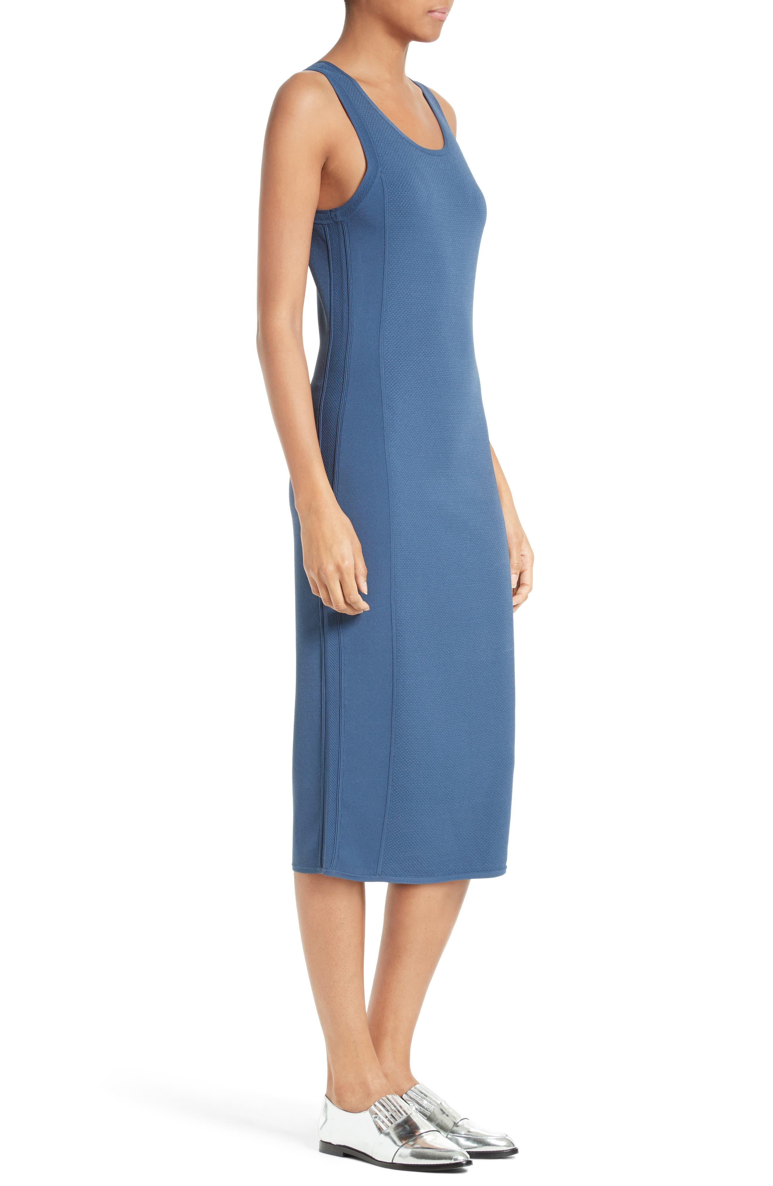 Knit Tank Dress,                             Alternate thumbnail 3, color,                             Indigo