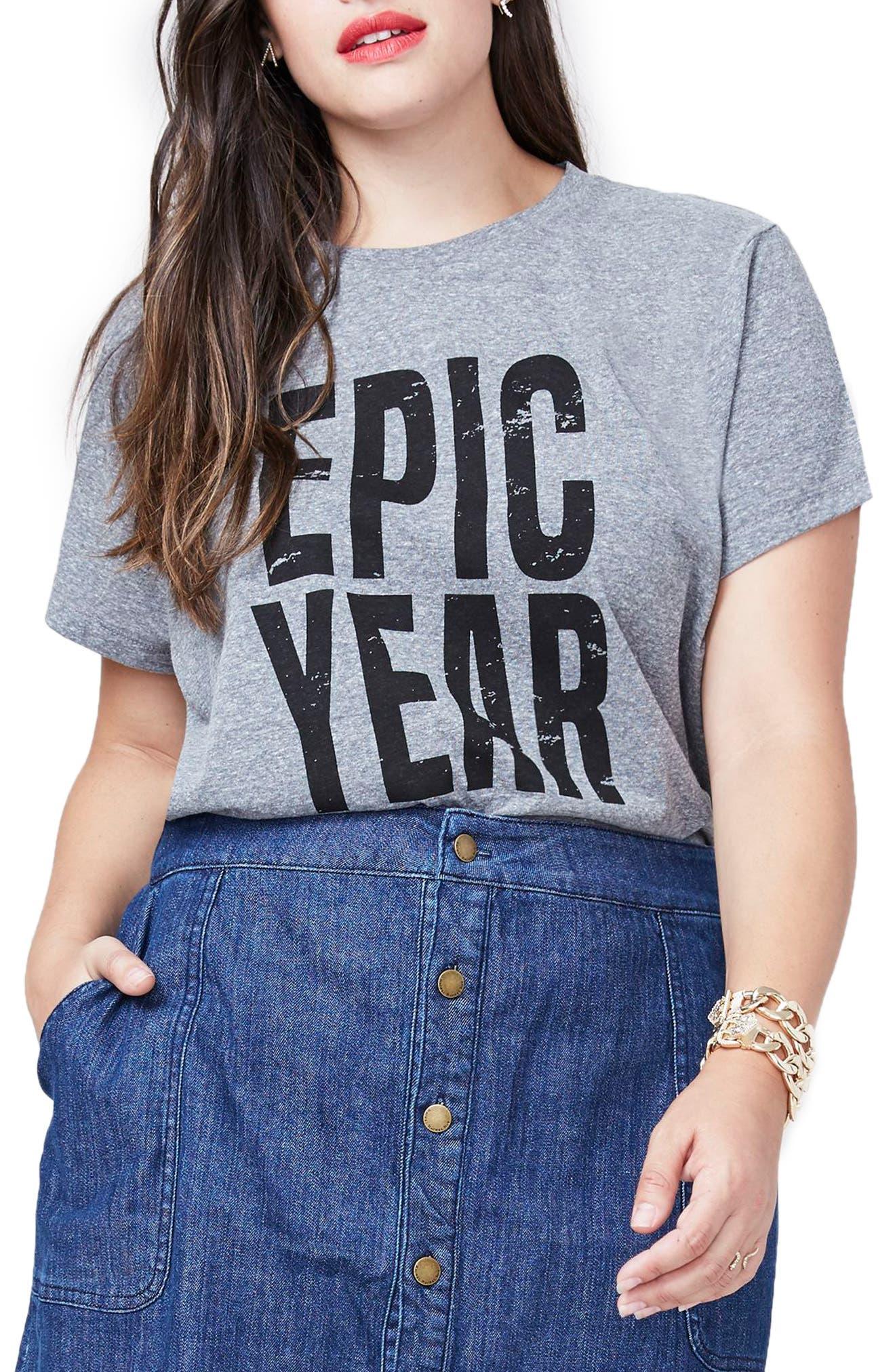 Main Image - Rachel Roy Epic Year Tee (Plus Size)