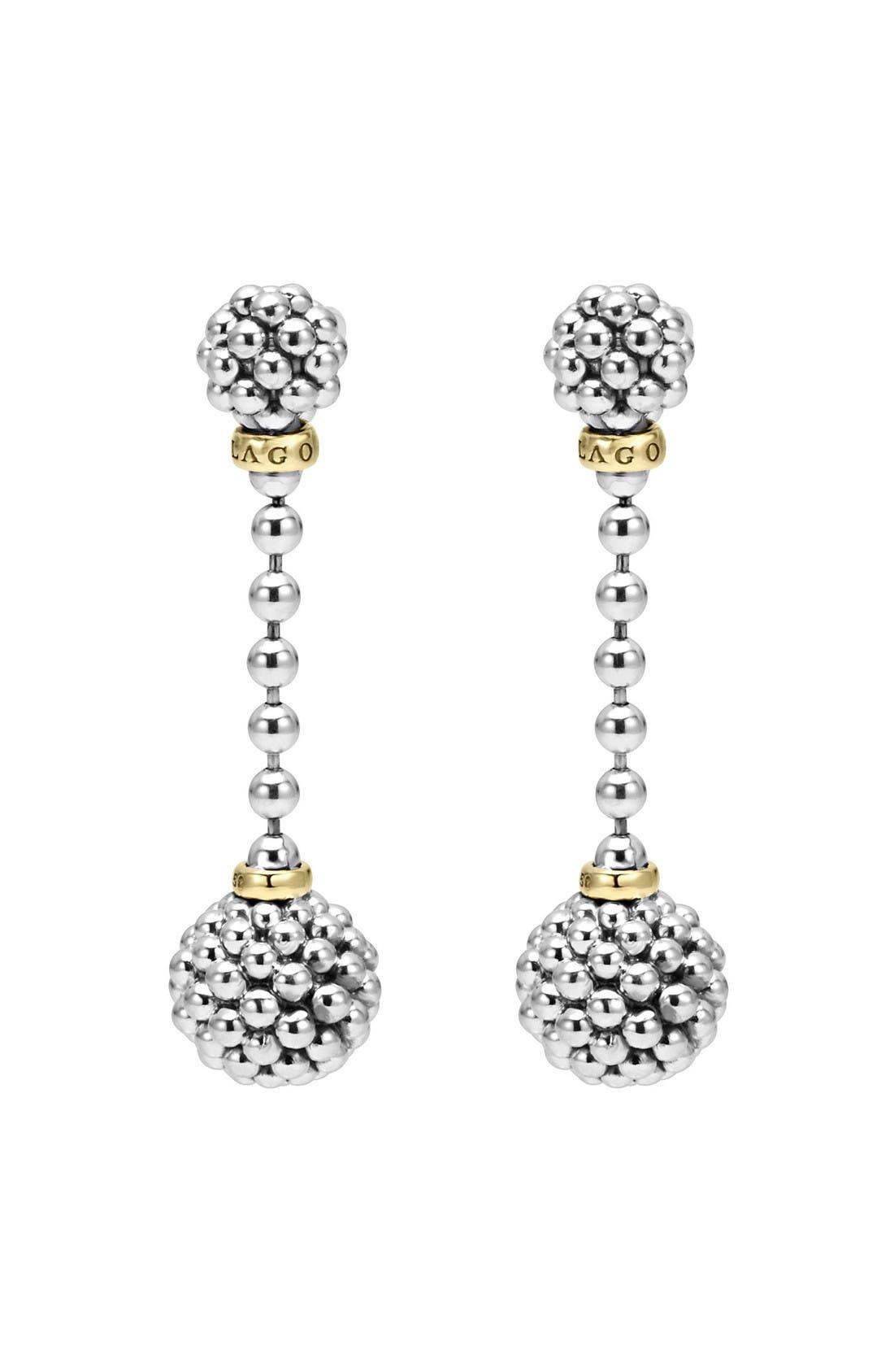 Alternate Image 2  - LAGOS Caviar Lattice Ball Drop Earrings