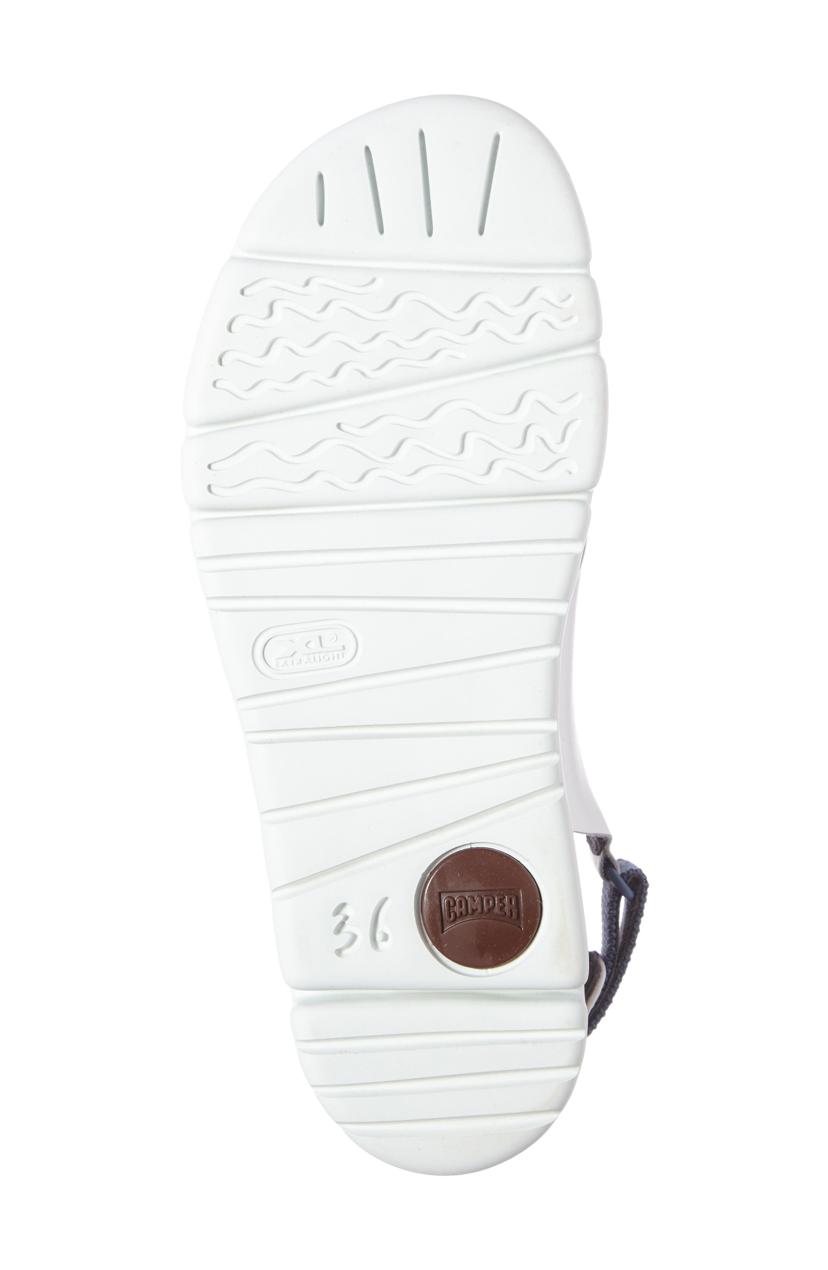 'Oruga' Crisscross Sandal,                             Alternate thumbnail 4, color,                             White Leather