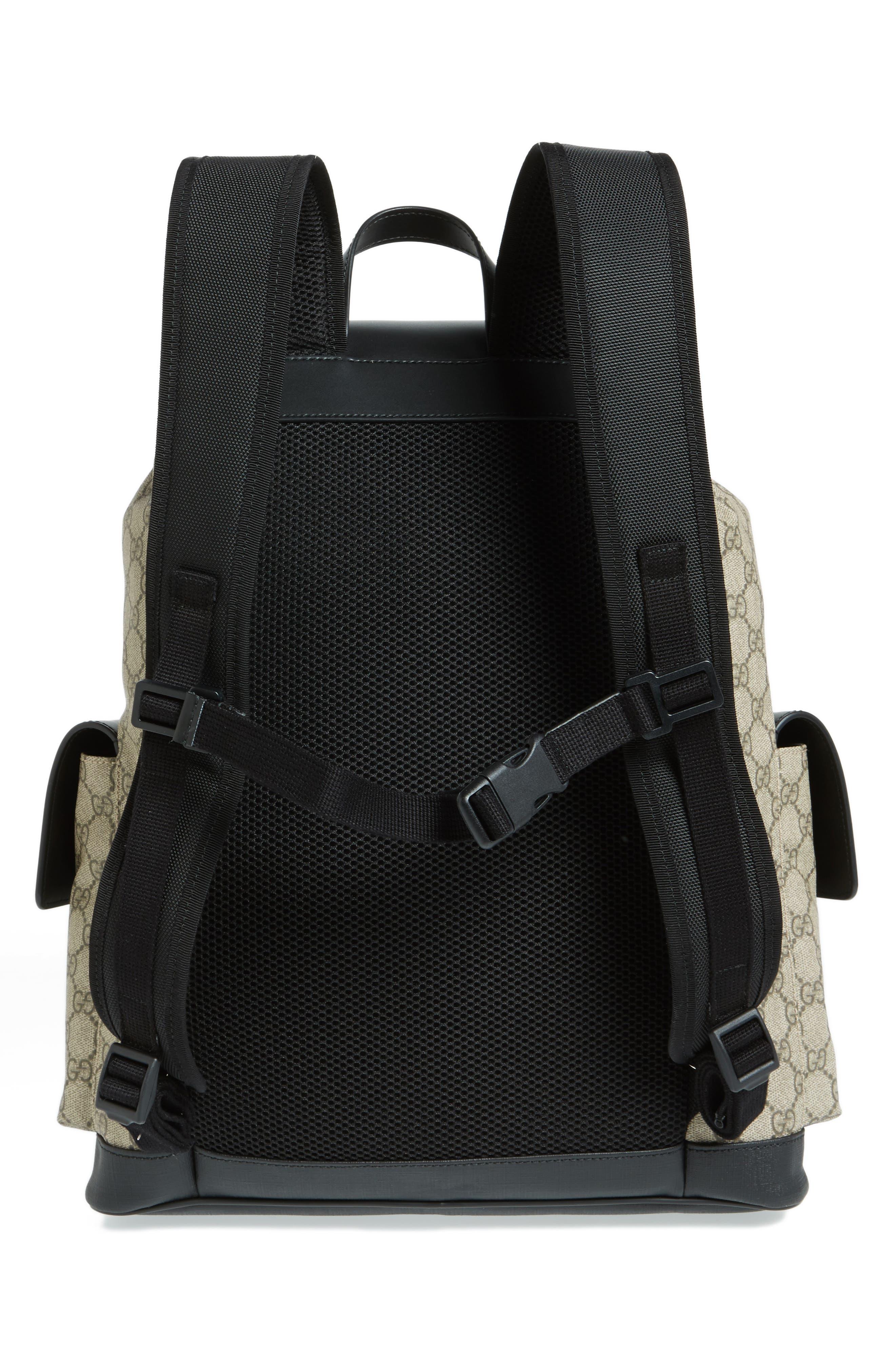 Alternate Image 3  - Gucci Eden Flap Top Canvas Backpack