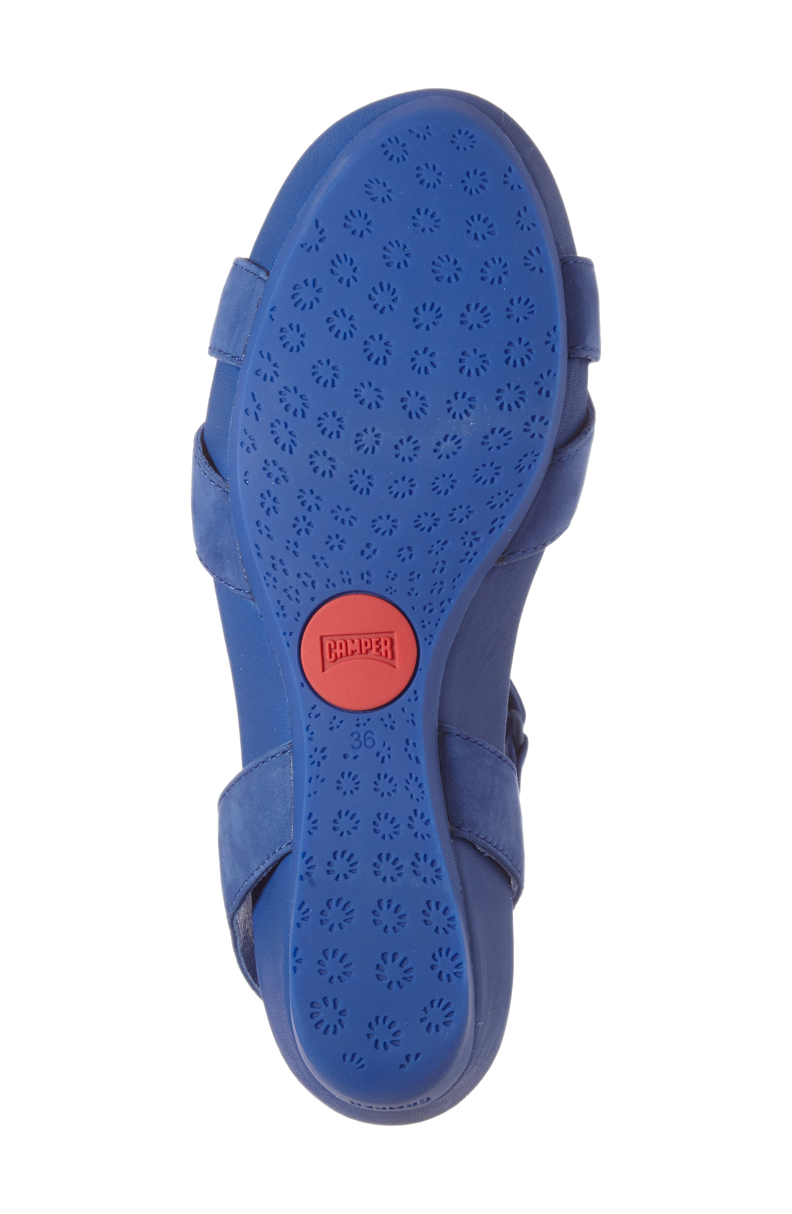 'Micro' Sandal,                             Alternate thumbnail 4, color,                             Blue Leather