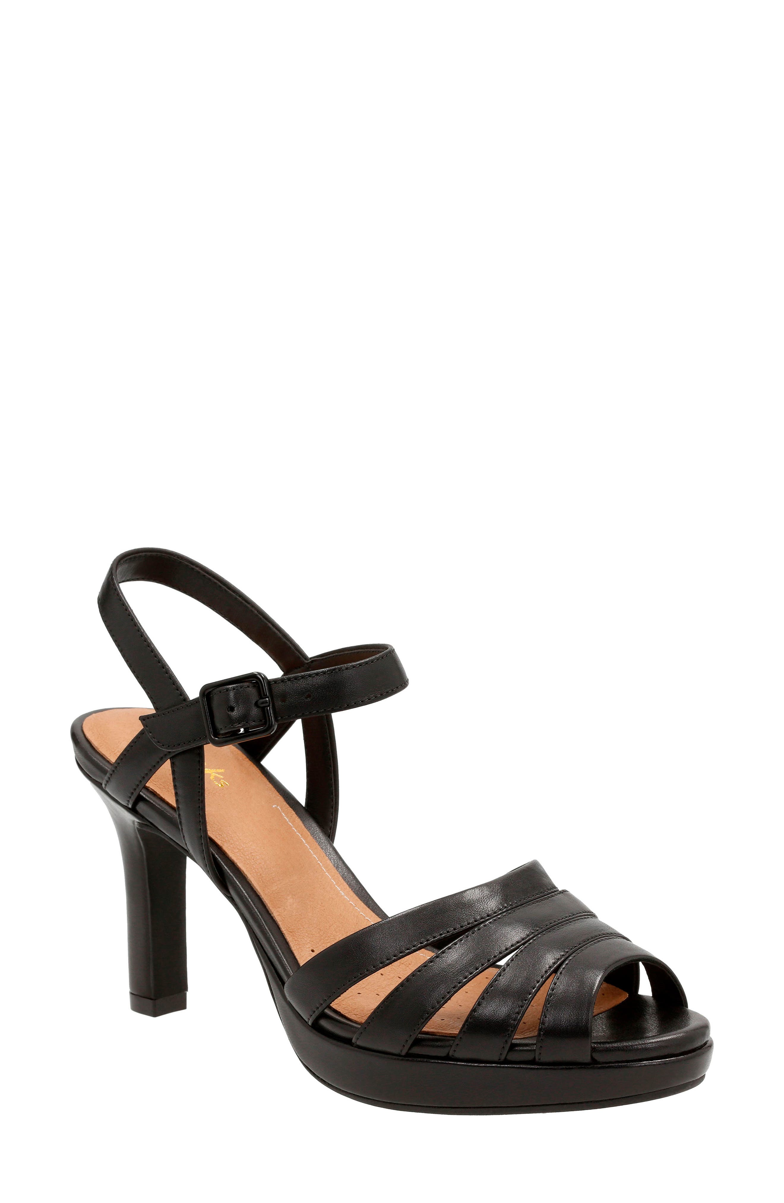 Mayra Poppy Sandal, Main, color, Black Leather
