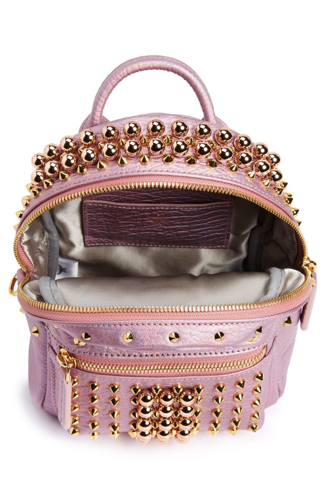 Alternate Image 4  - MCM X-Mini Stark Stud Backpack