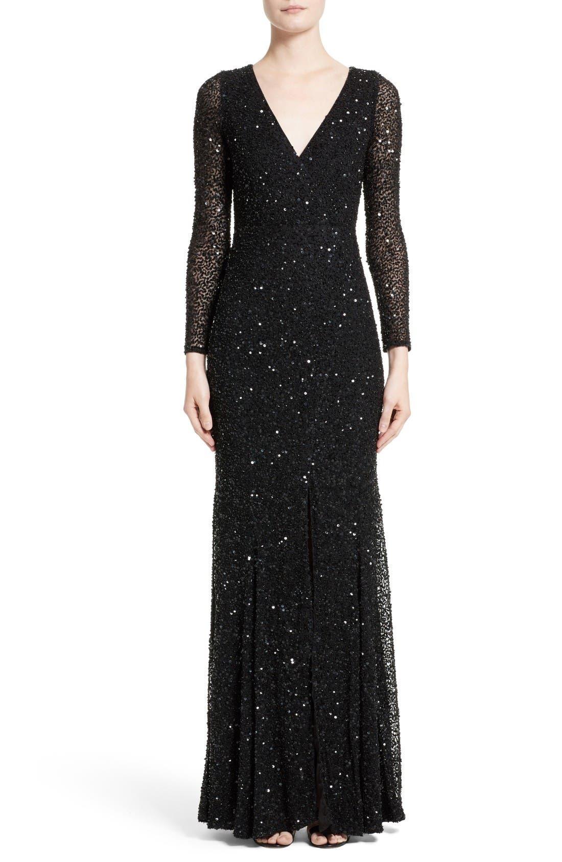 Rachel Gilbert Sequin Gown