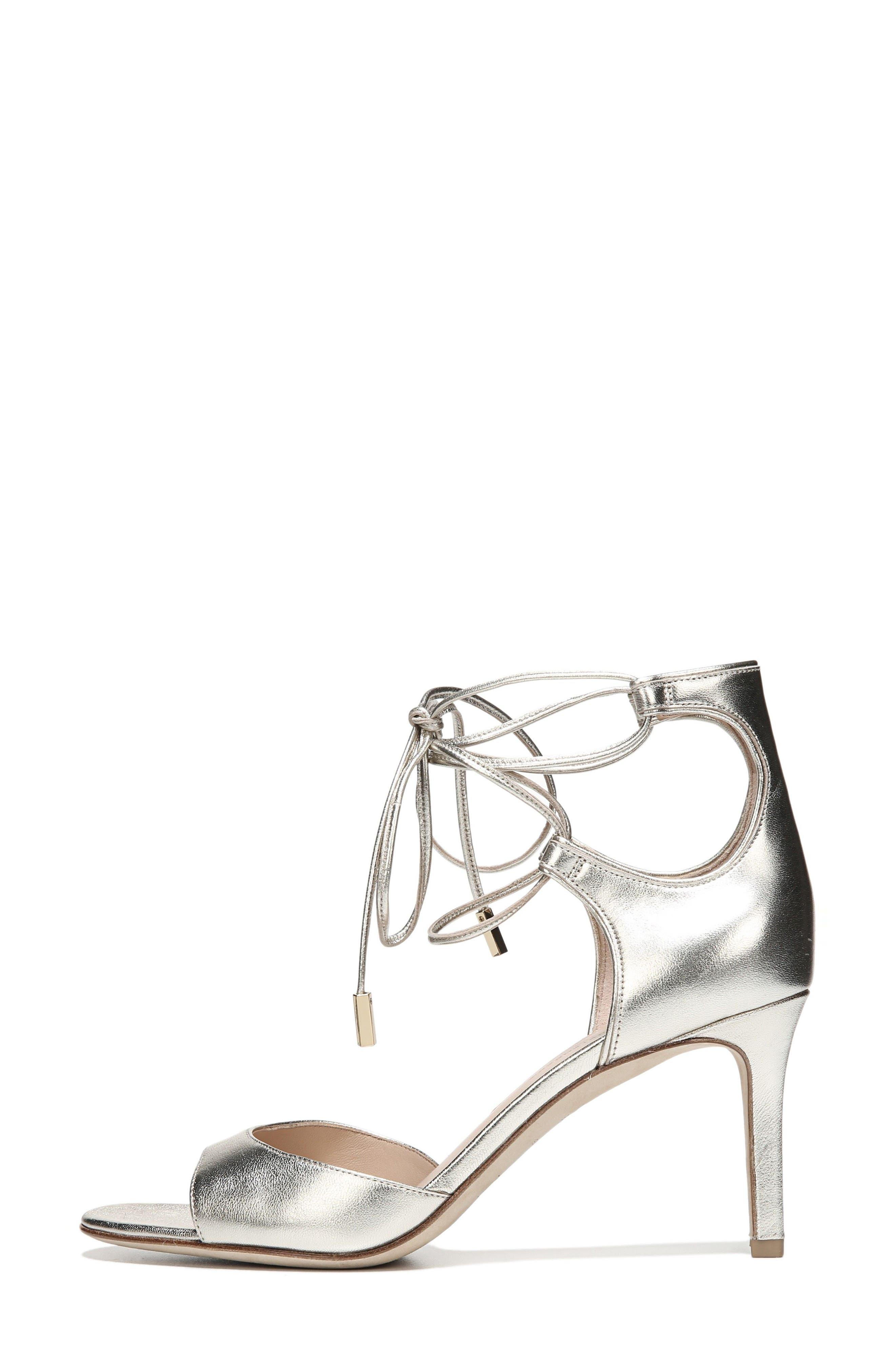 'Rimini' Ankle Wrap Sandal,                             Alternate thumbnail 5, color,                             Platino