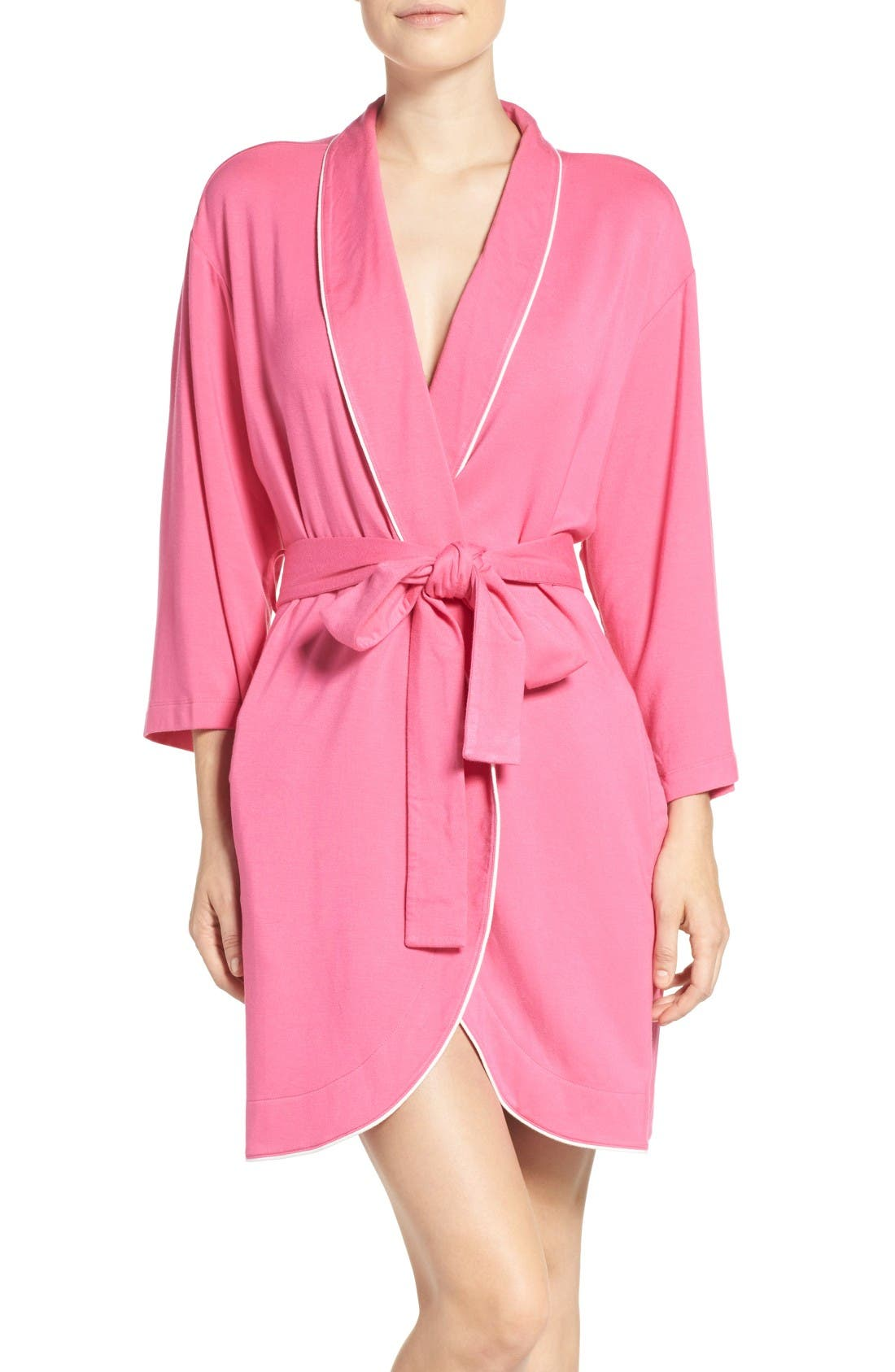 Alternate Image 1 Selected - kate spade screenprint french terry robe