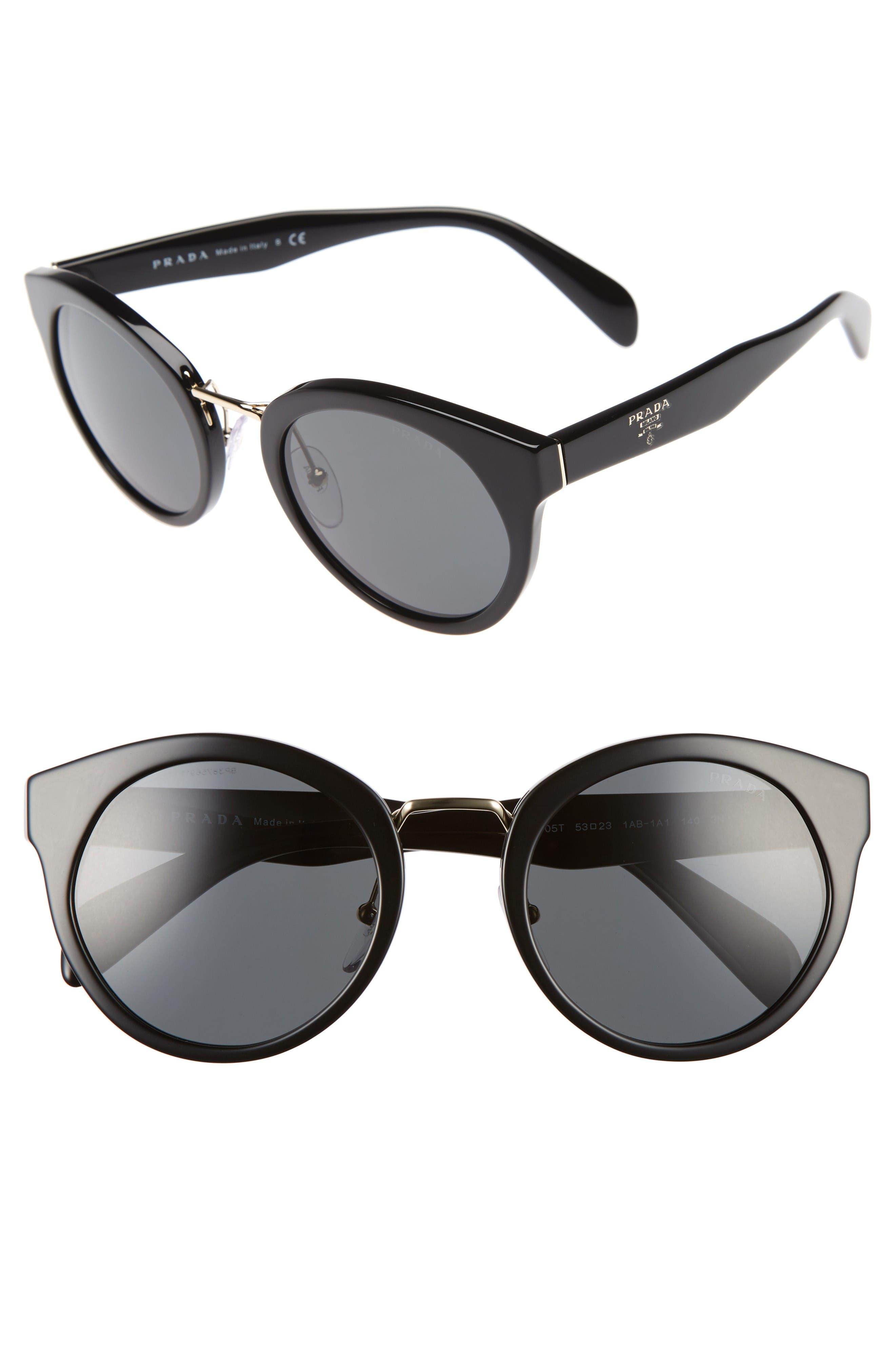 Prada 53mm Cat Eye Sunglasses