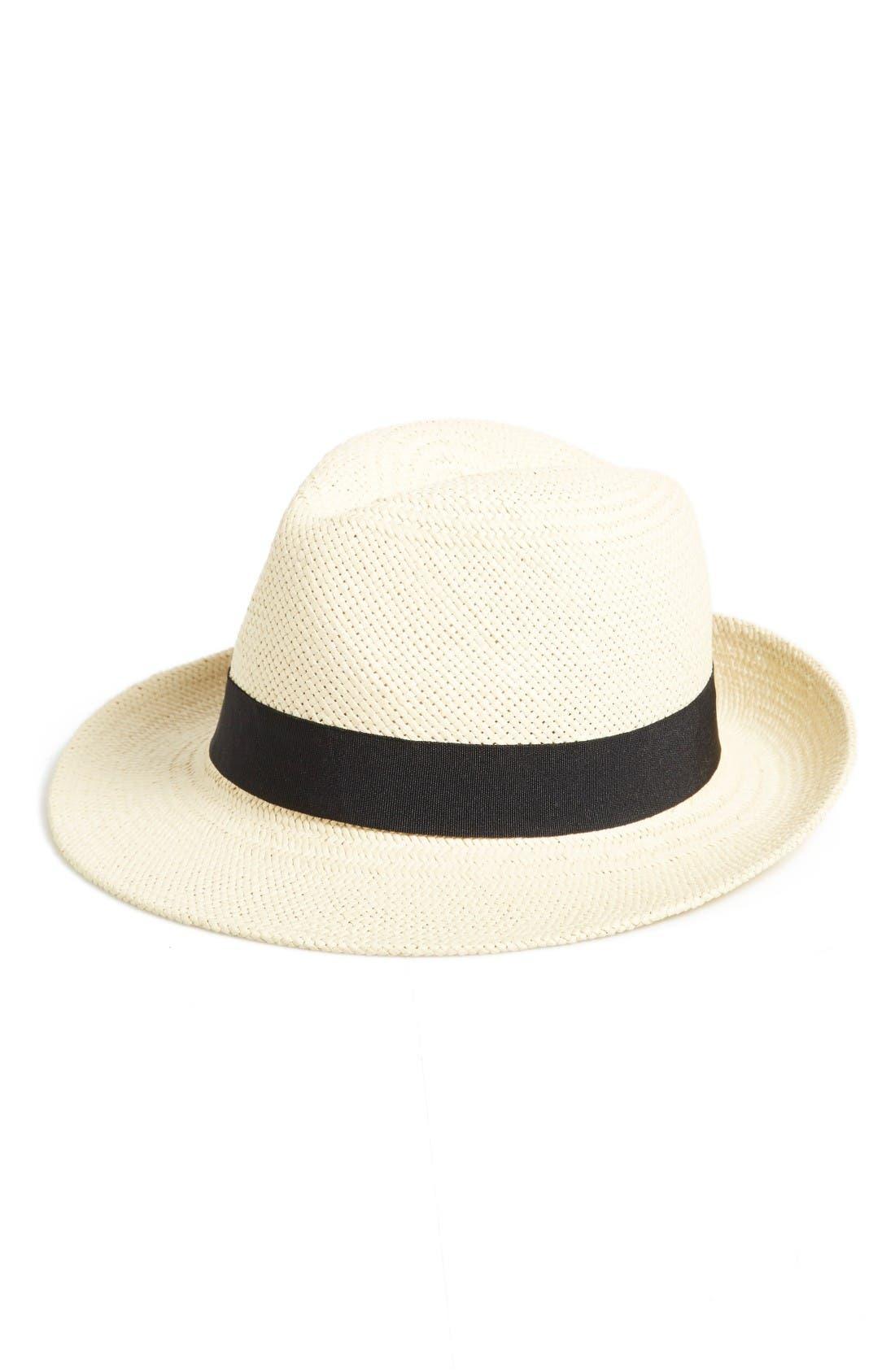 Alternate Image 1 Selected - Halogen® Straw Panama Hat