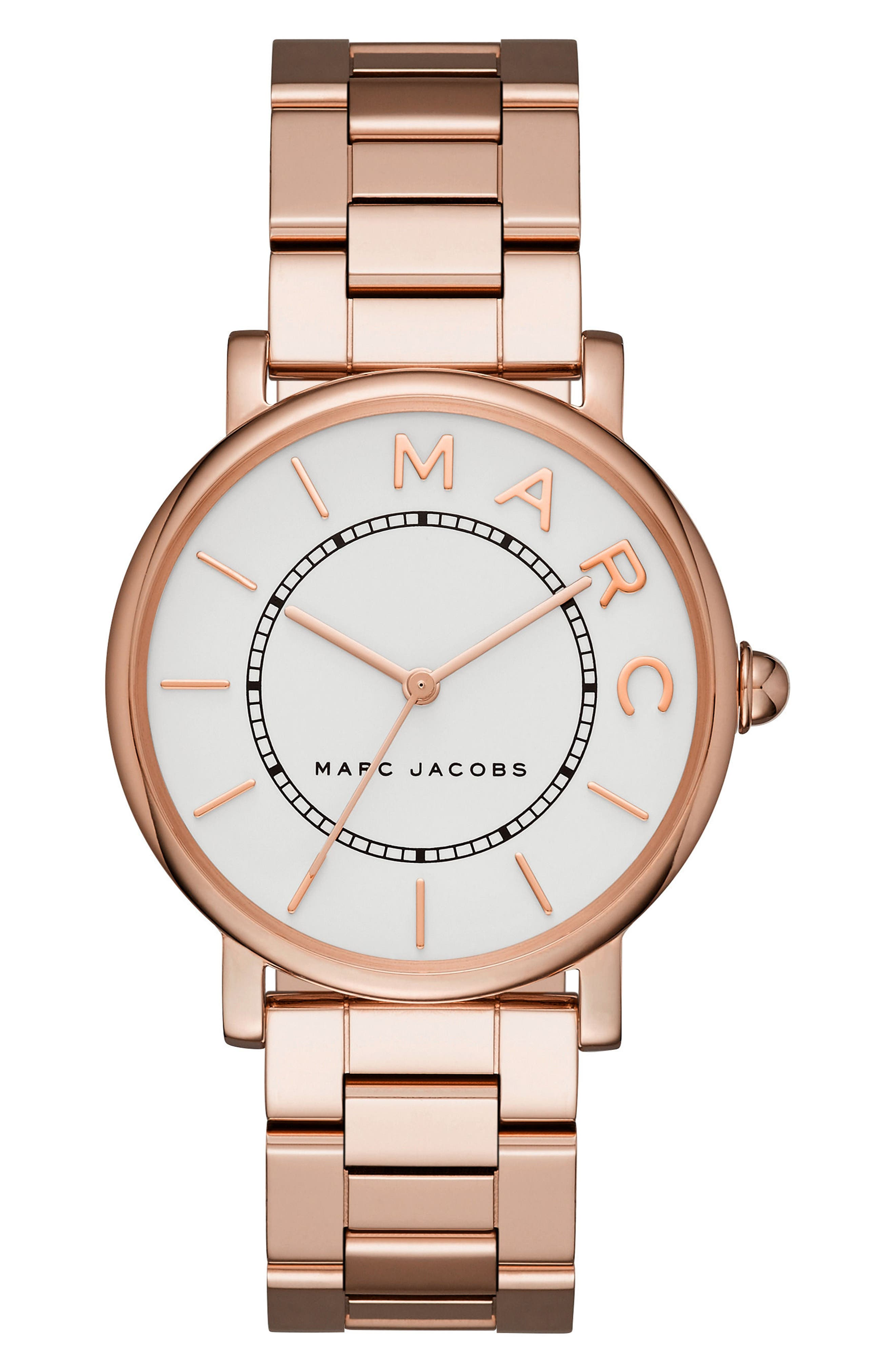 Classic Bracelet Watch, 36mm,                             Main thumbnail 1, color,                             Rose Gold/ White Satin