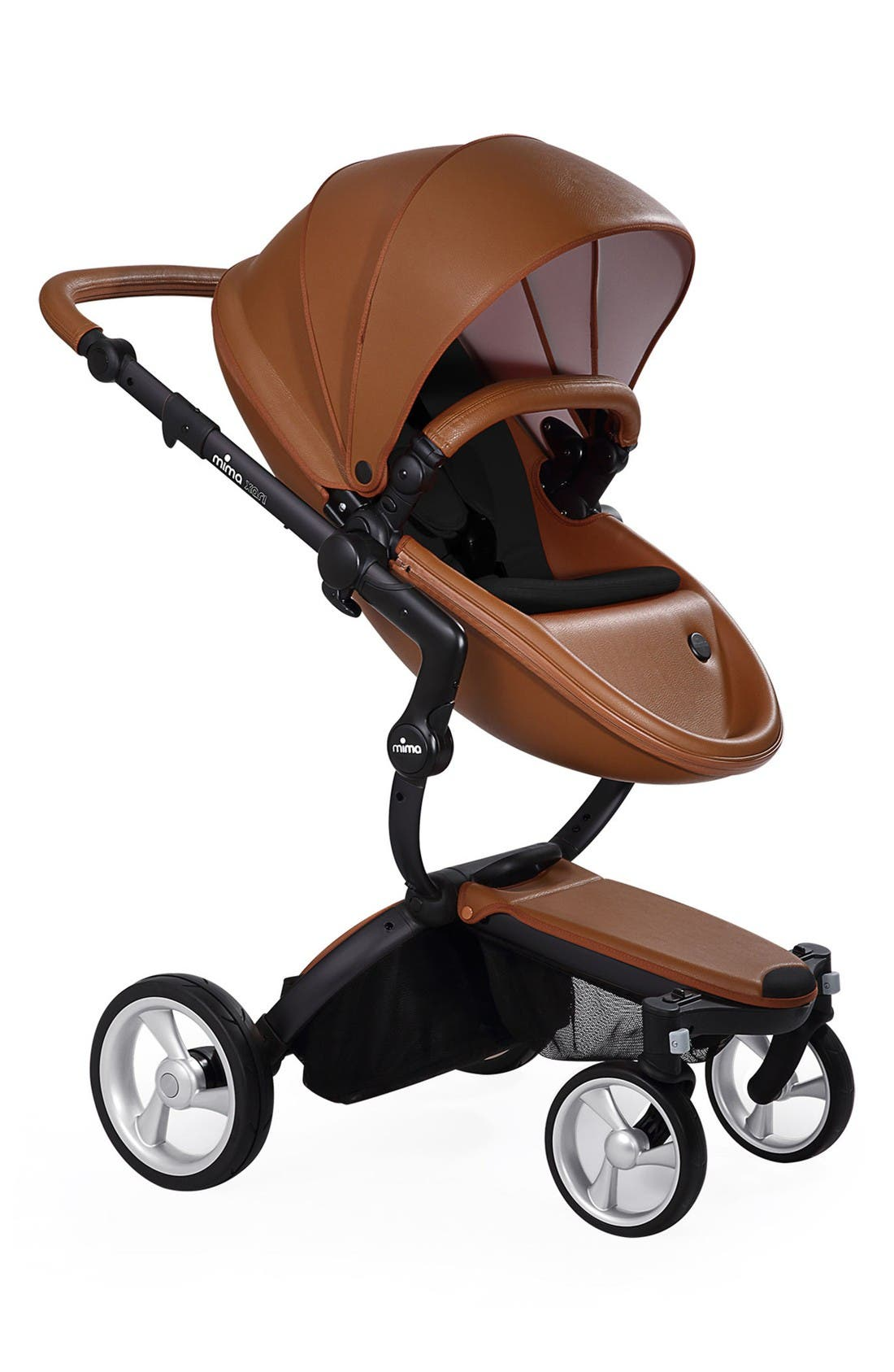 Mima Xari Black Chassis Stroller with Reversible Reclining Seat & Carrycot