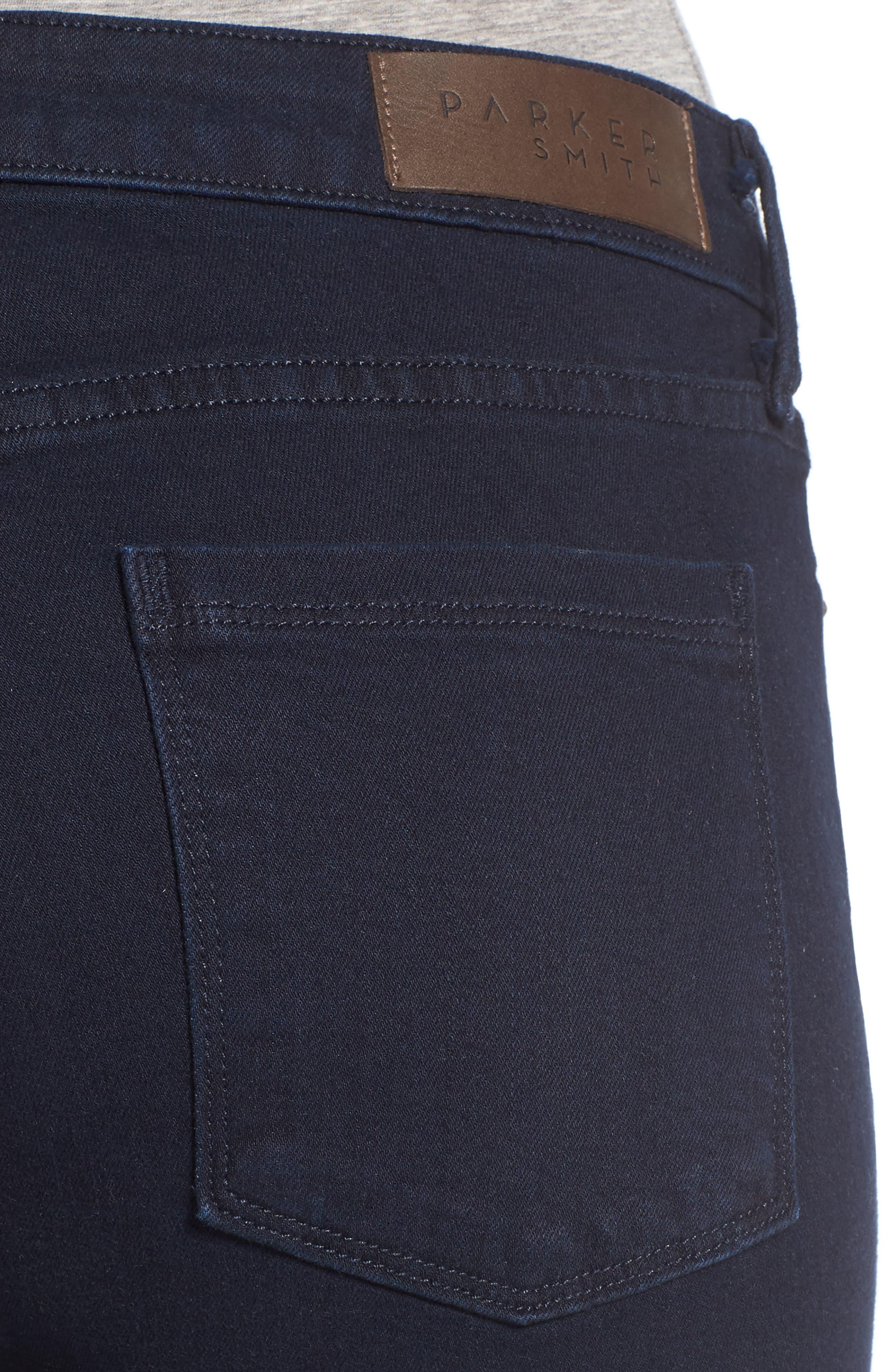 Ava Stretch Skinny Jeans,                             Alternate thumbnail 4, color,                             Nautical