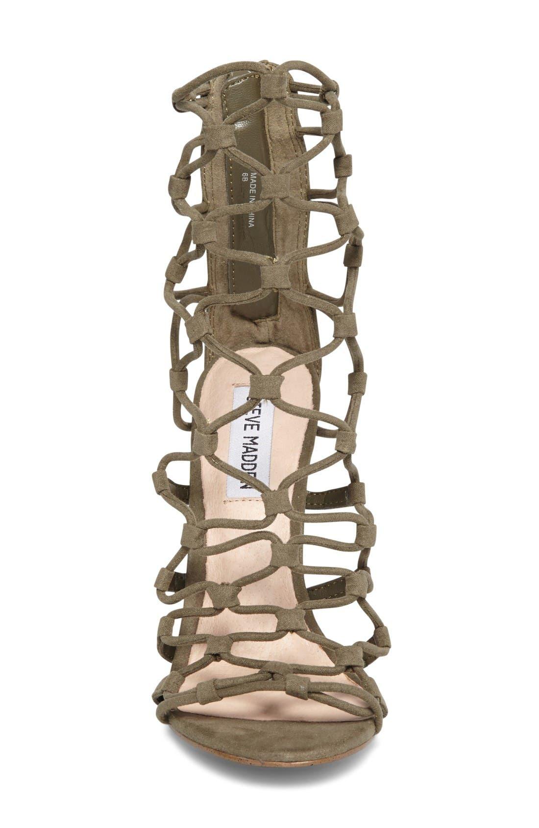 Alternate Image 3  - Steve Madden Mayfair Latticework Tall Sandal (Women)