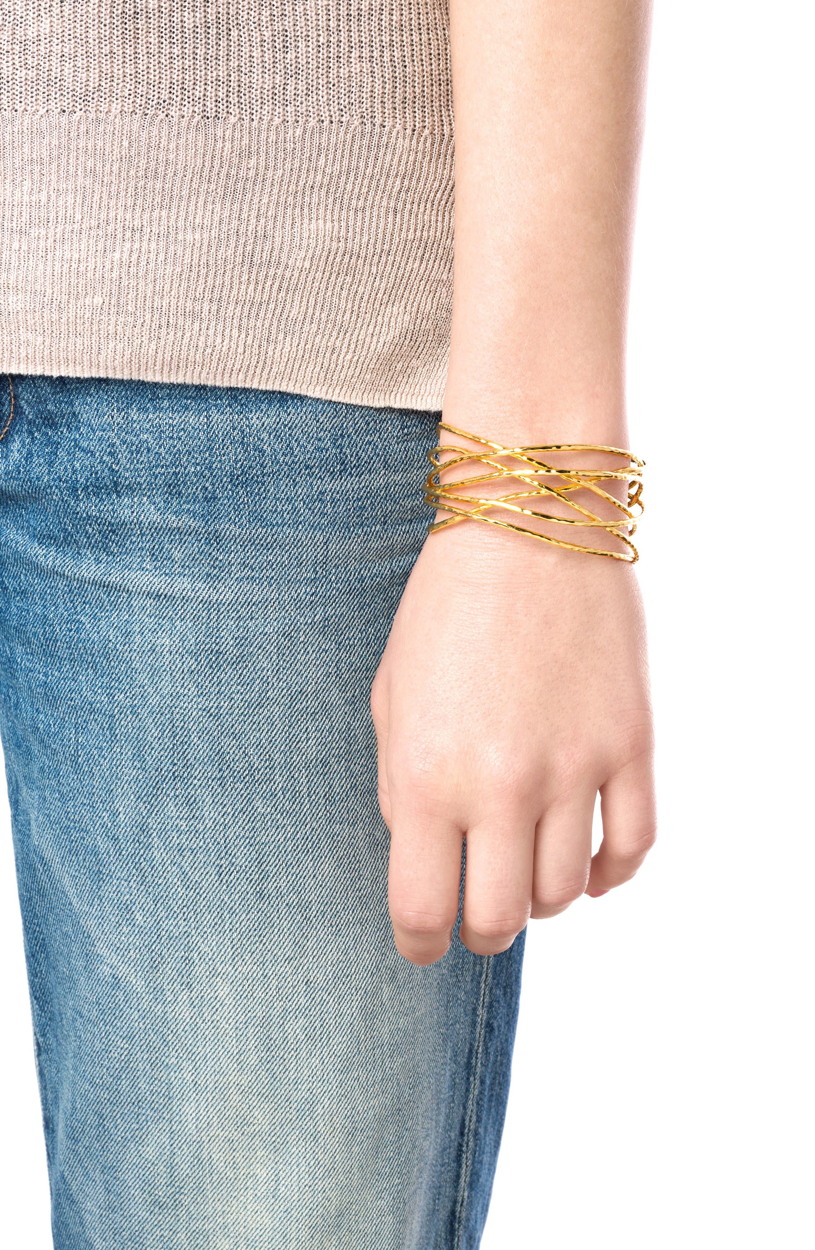 Lola Wrist Cuff,                             Alternate thumbnail 2, color,                             Rose Gold