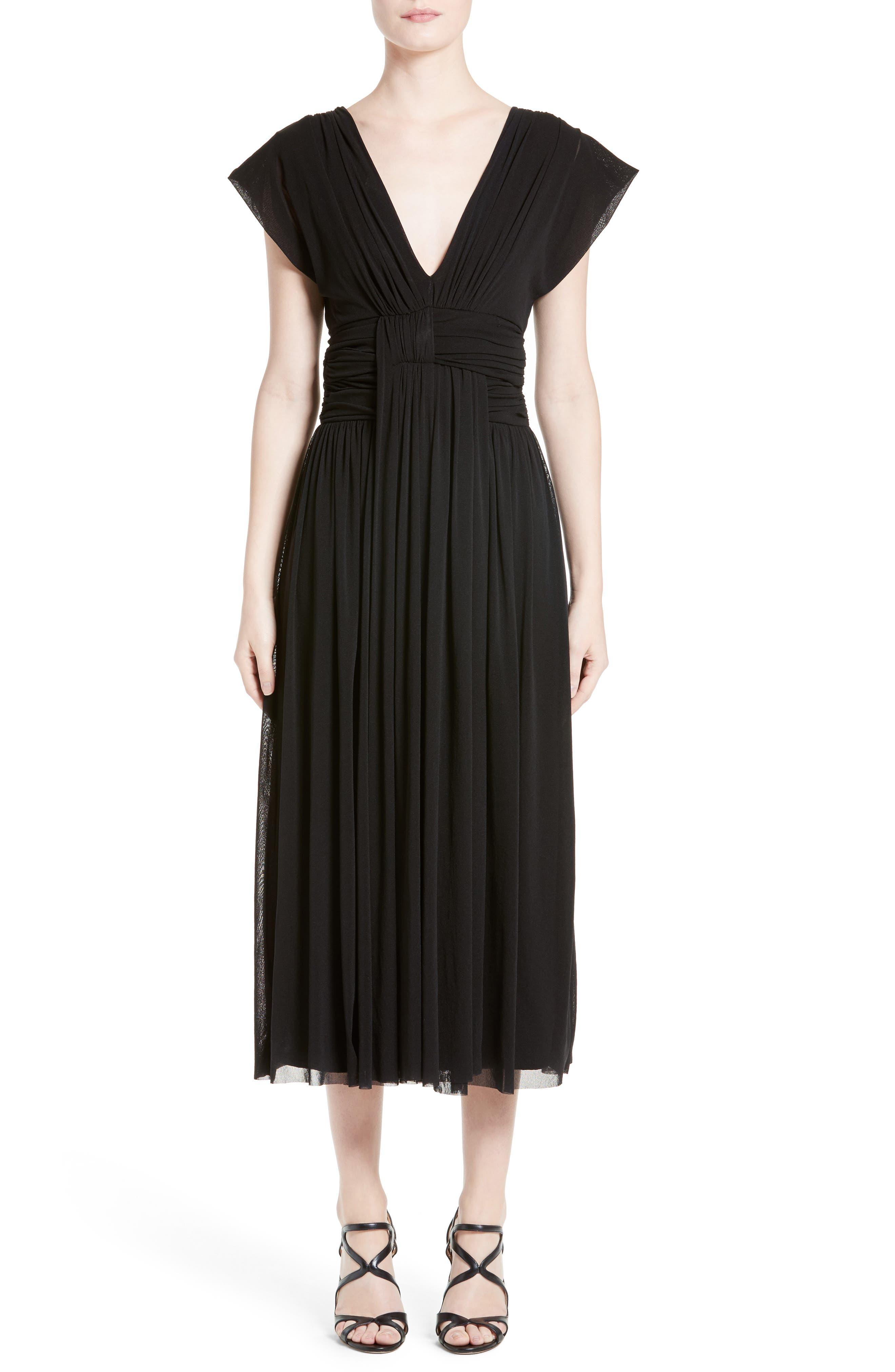 Fuzzi Empire Waist Midi Dress