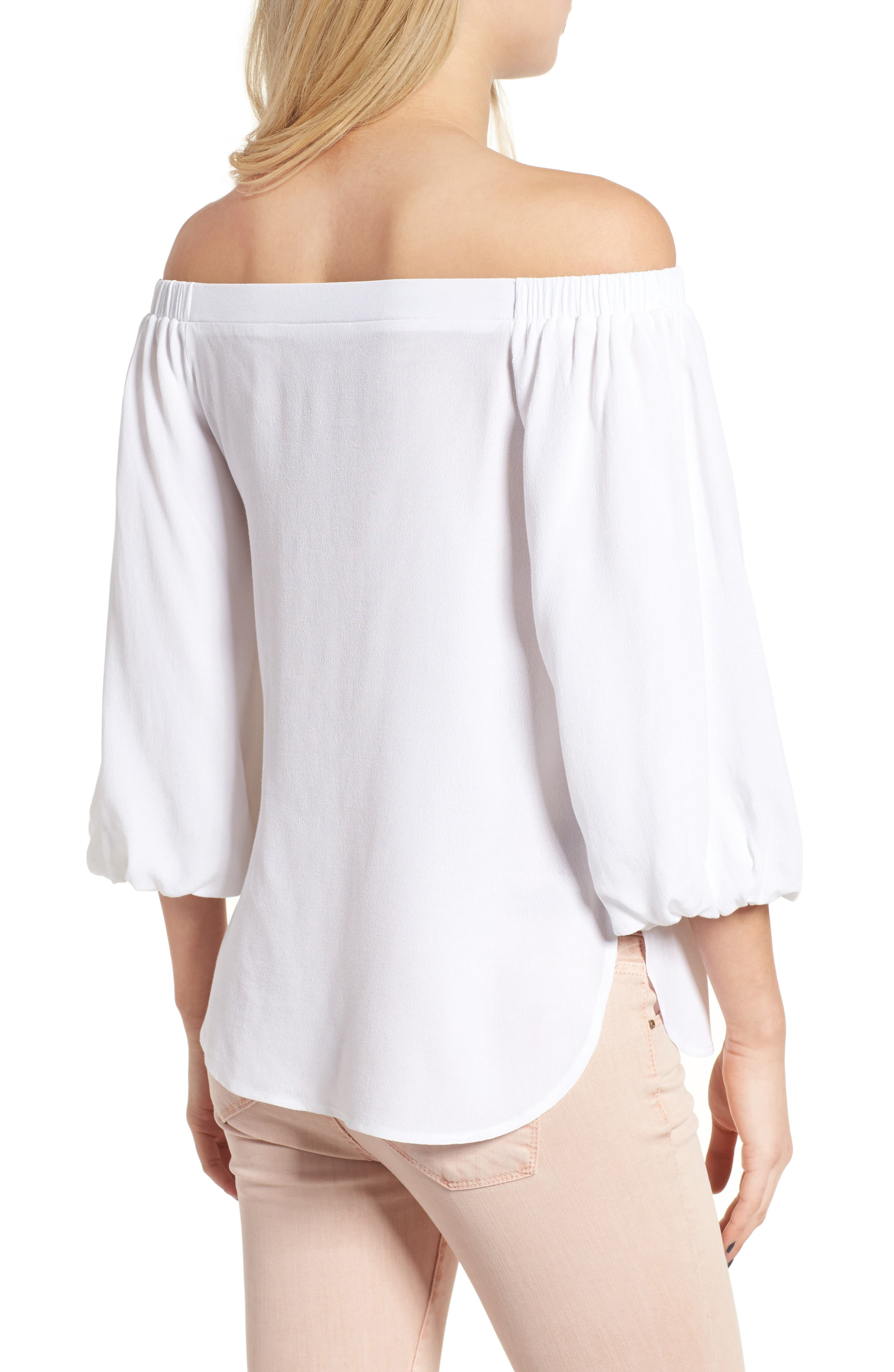 Alternate Image 2  - Soprano Bubble Sleeve Off the Shoulder Top