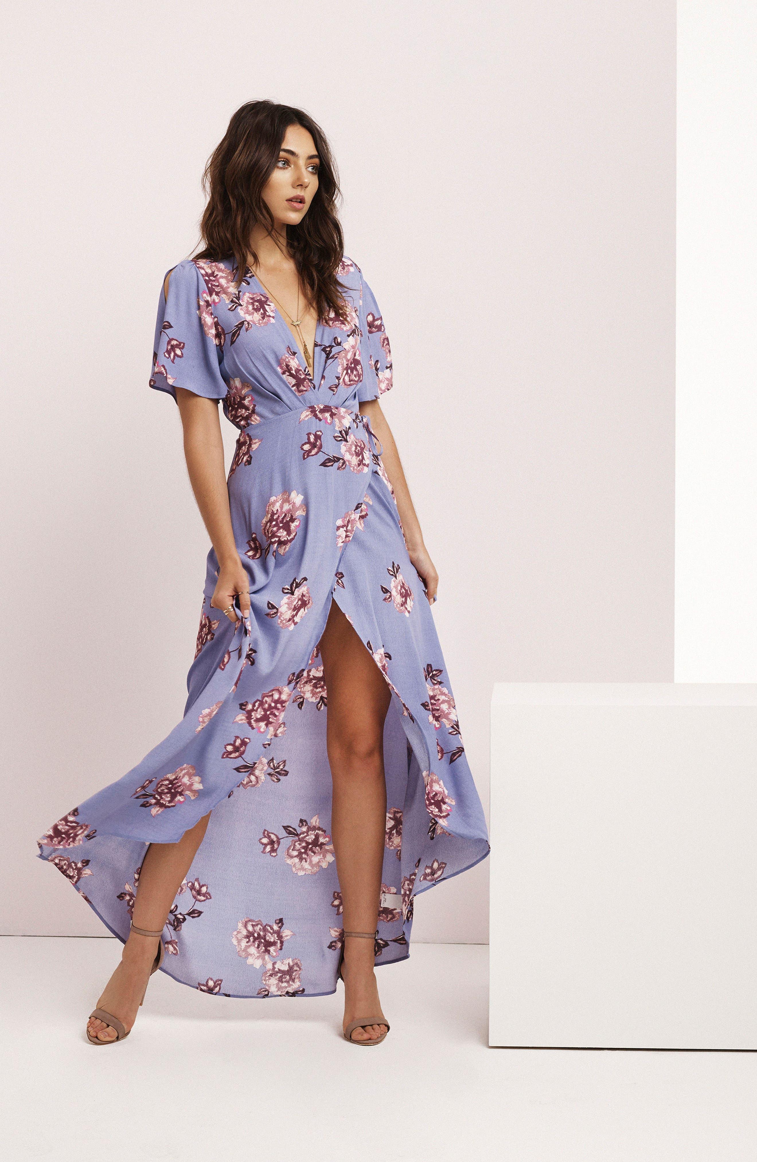 Alternate Image 2  - ASTR Selma Floral Print Wrap Dress