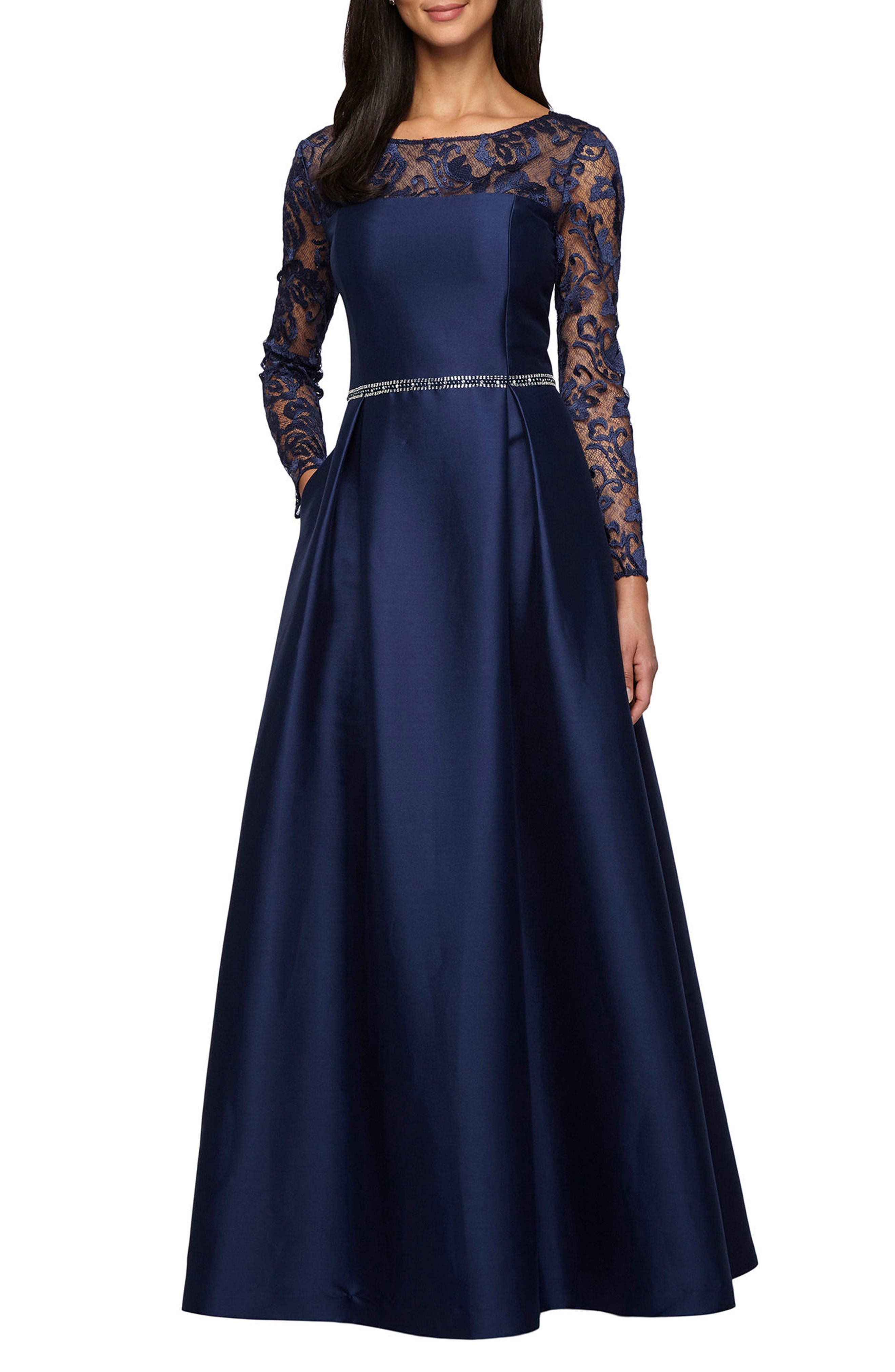 Alternate Image 1 Selected - Alex Evenings Illusion Neckline Gown