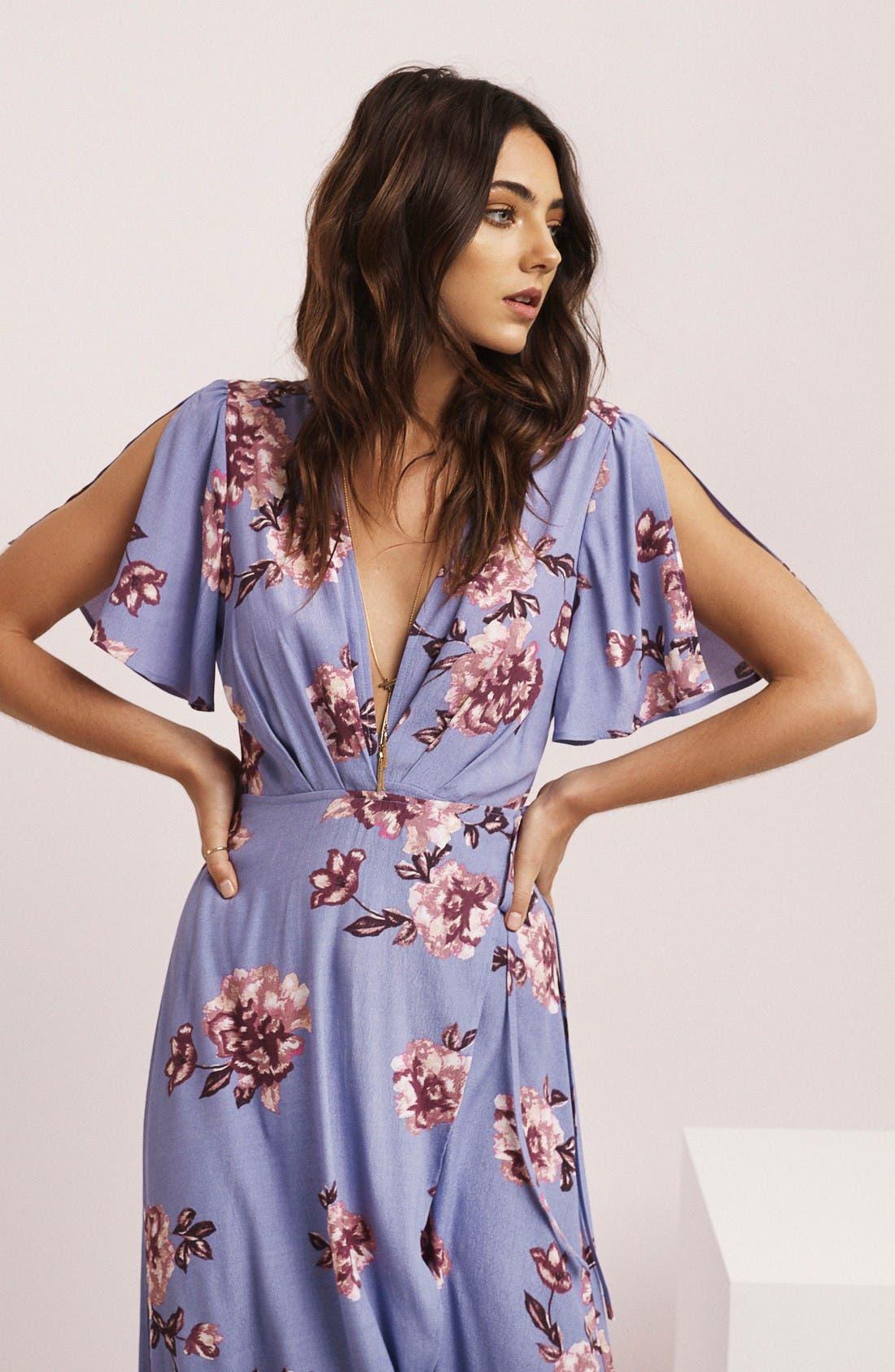 Alternate Image 7  - ASTR Selma Floral Print Wrap Dress