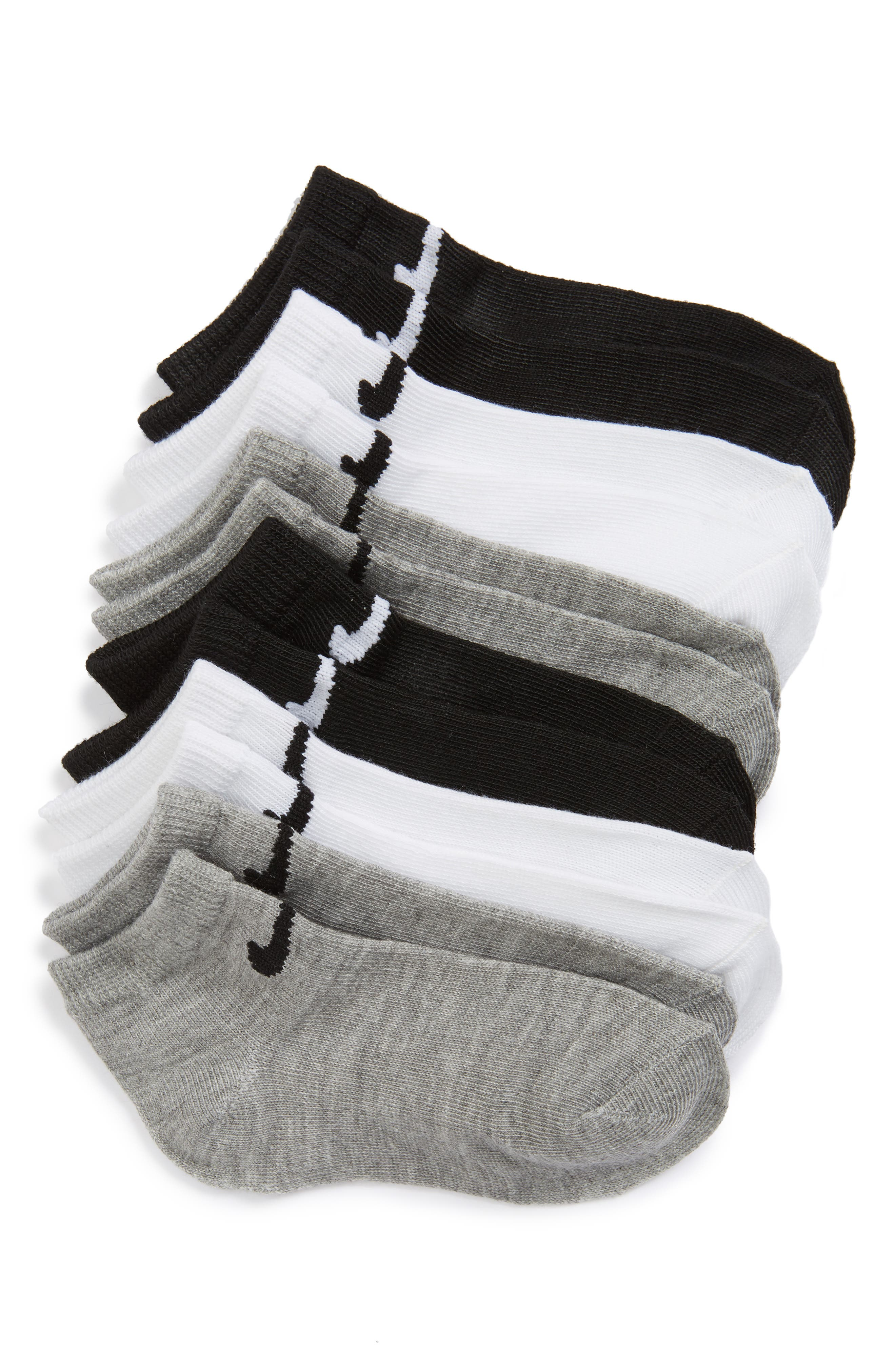 Main Image - Nike Low Cut Performance Socks (6-Pack) (Toddler & Little Kid)