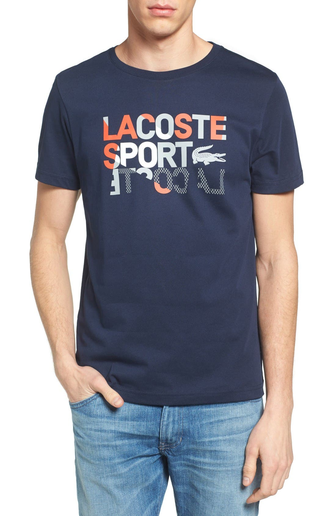 Sport Graphic T-Shirt,                         Main,                         color, Navy Blue/ Dolmen Grey