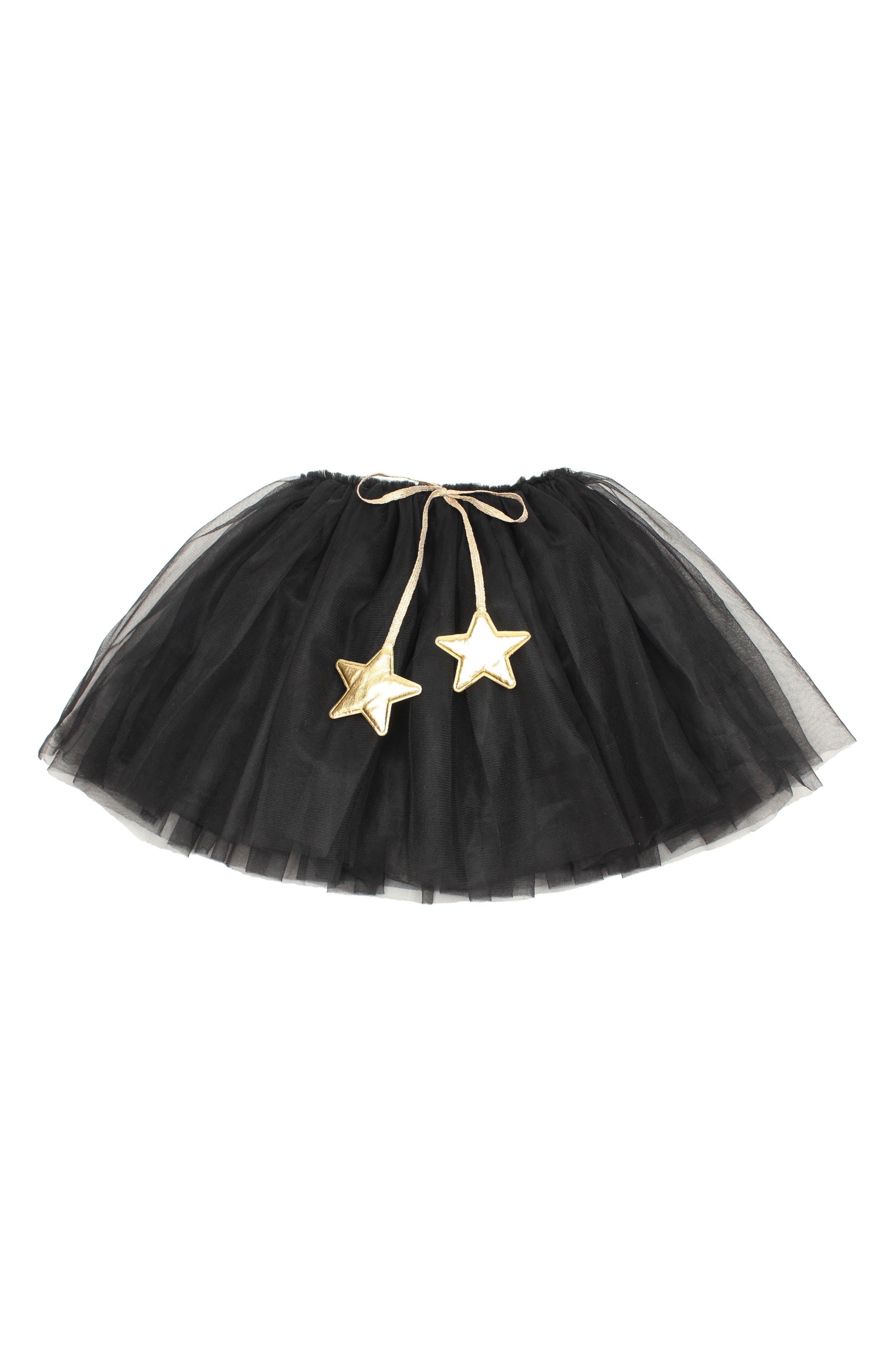 Gold Star Tutu Skirt,                         Main,                         color, Black
