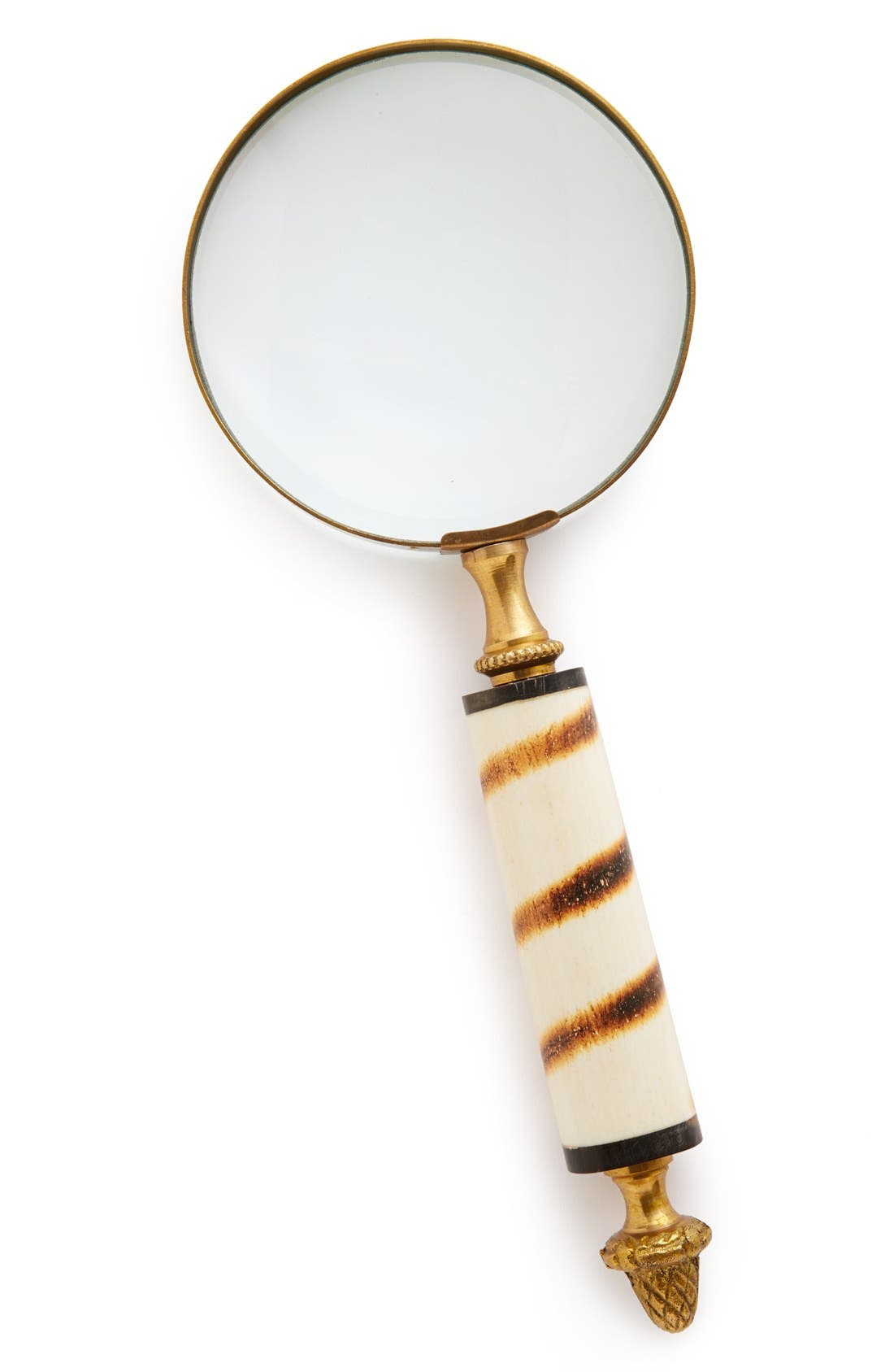 Main Image - Import Collection Striped Horn Handle Magnifying Glass