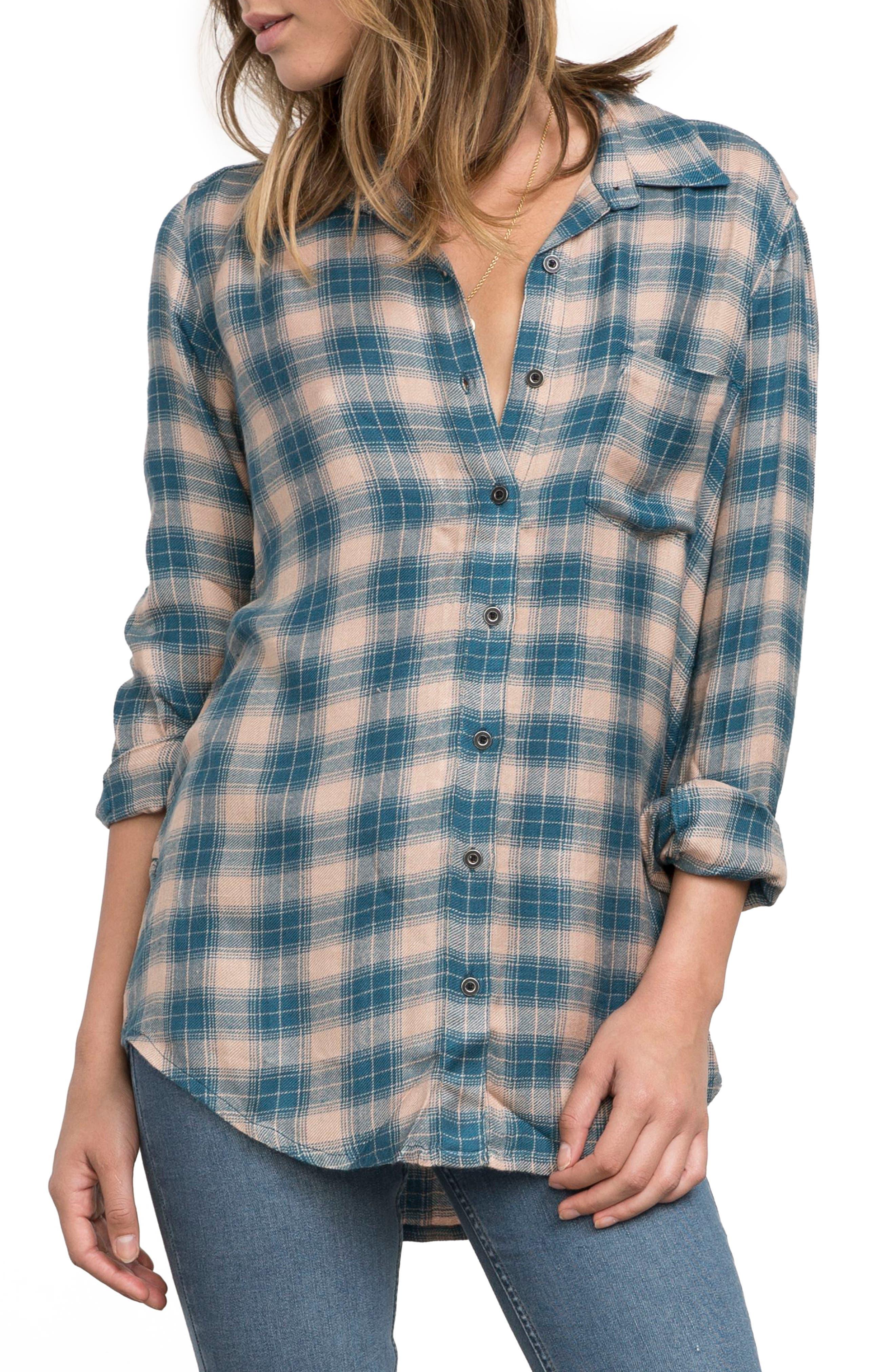 York Plaid Shirt,                         Main,                         color, Simply Taupe