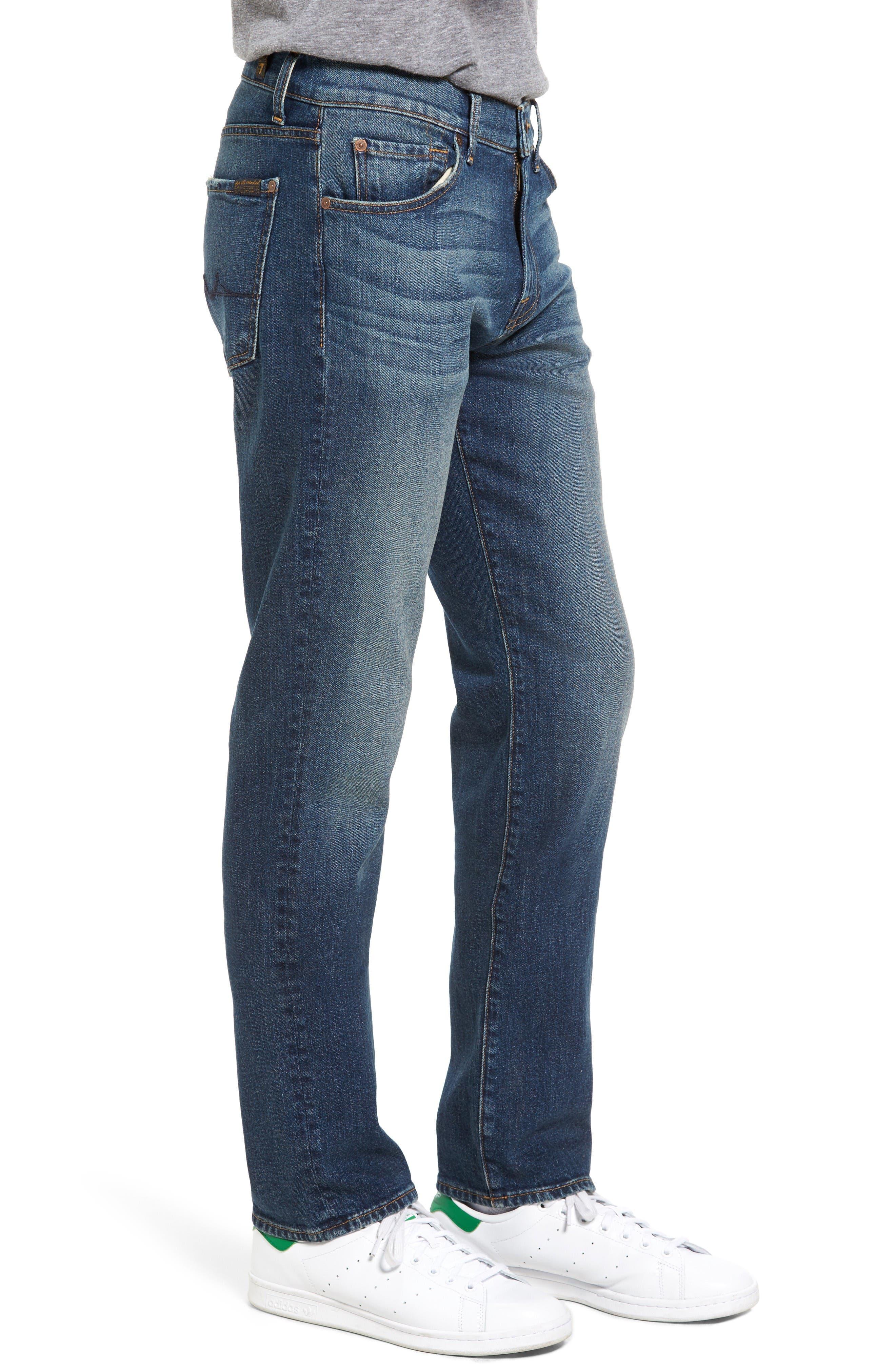 Alternate Image 3  - 7 For All Mankind® Slimmy Slim Fit Jeans (Carolina Tide)