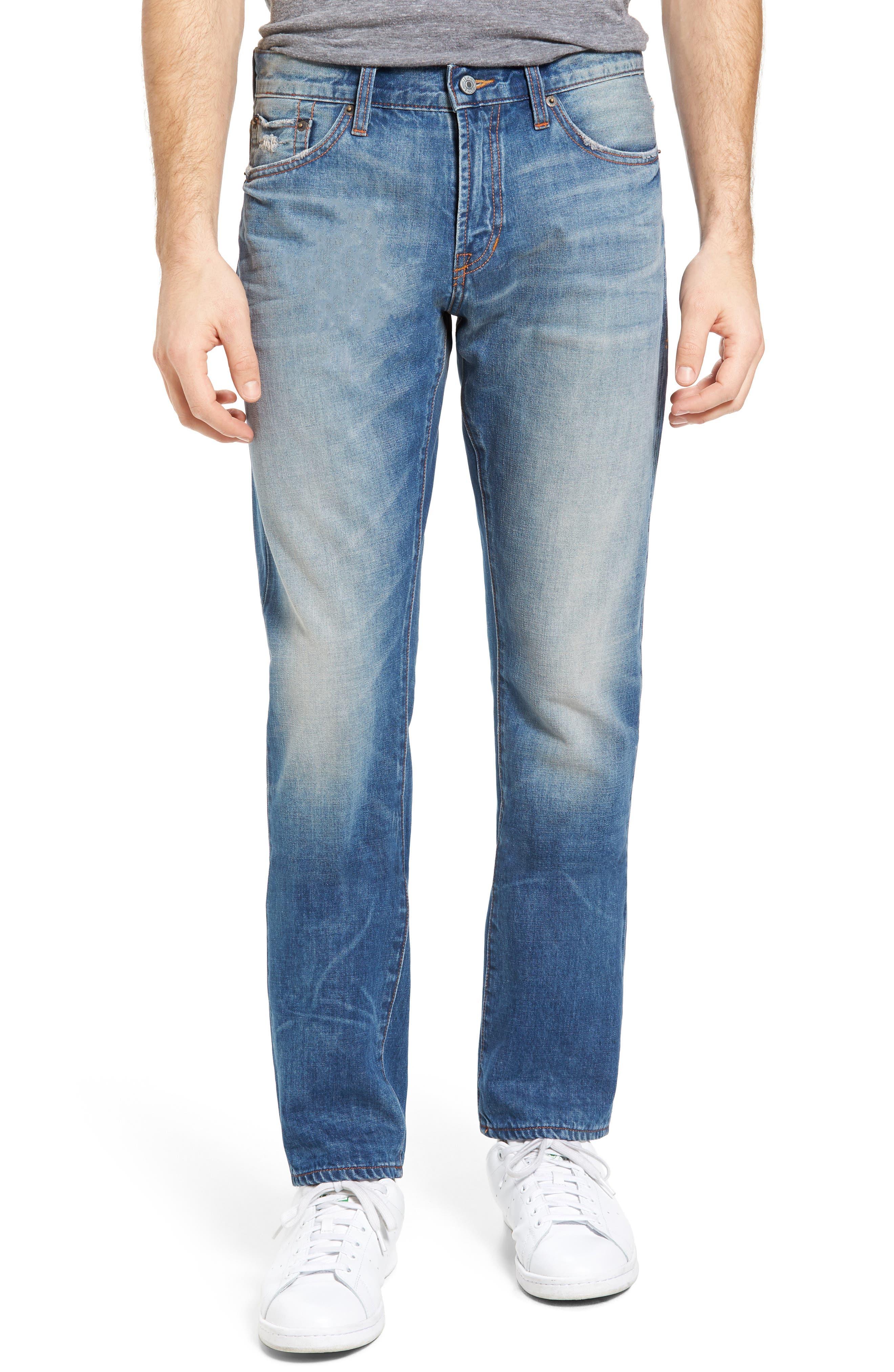 Jean Shop Slim Straight Leg Jeans (Spring Vintage)