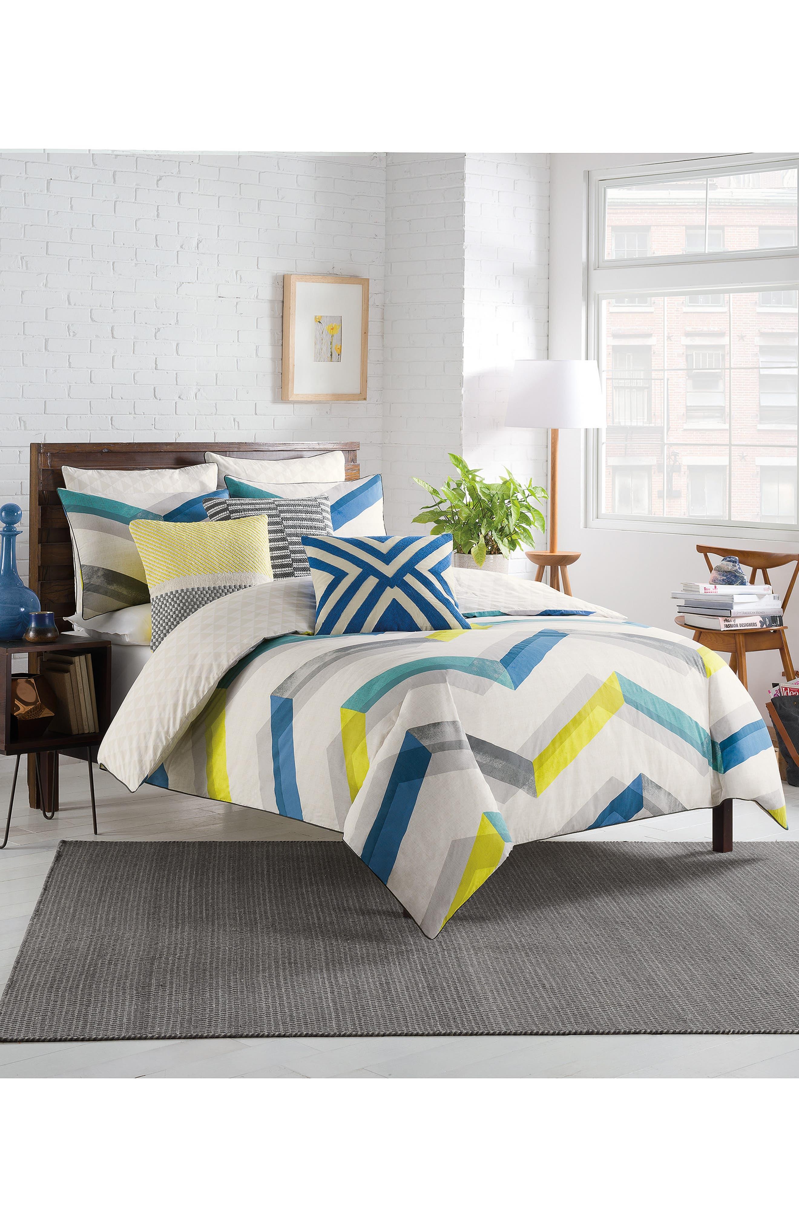 Riley Duvet,                         Main,                         color, Blue/ Multi