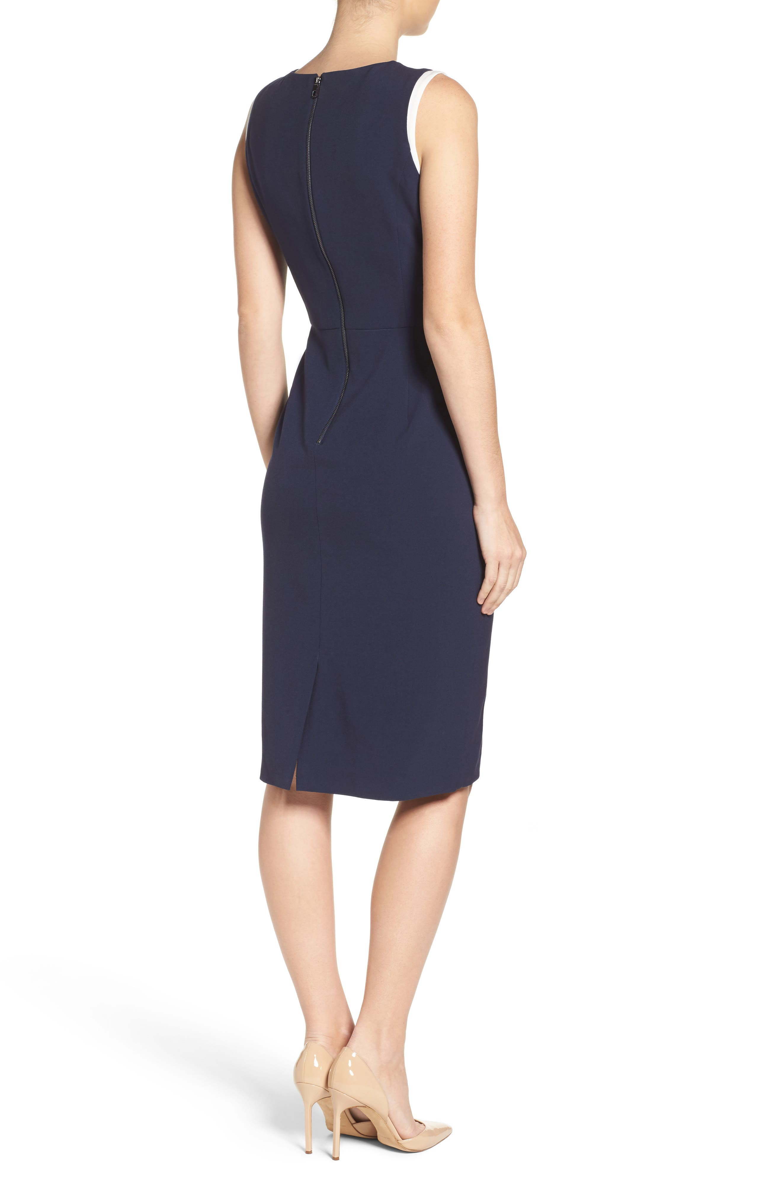 Alternate Image 2  - Vince Camuto Stretch Sheath Dress