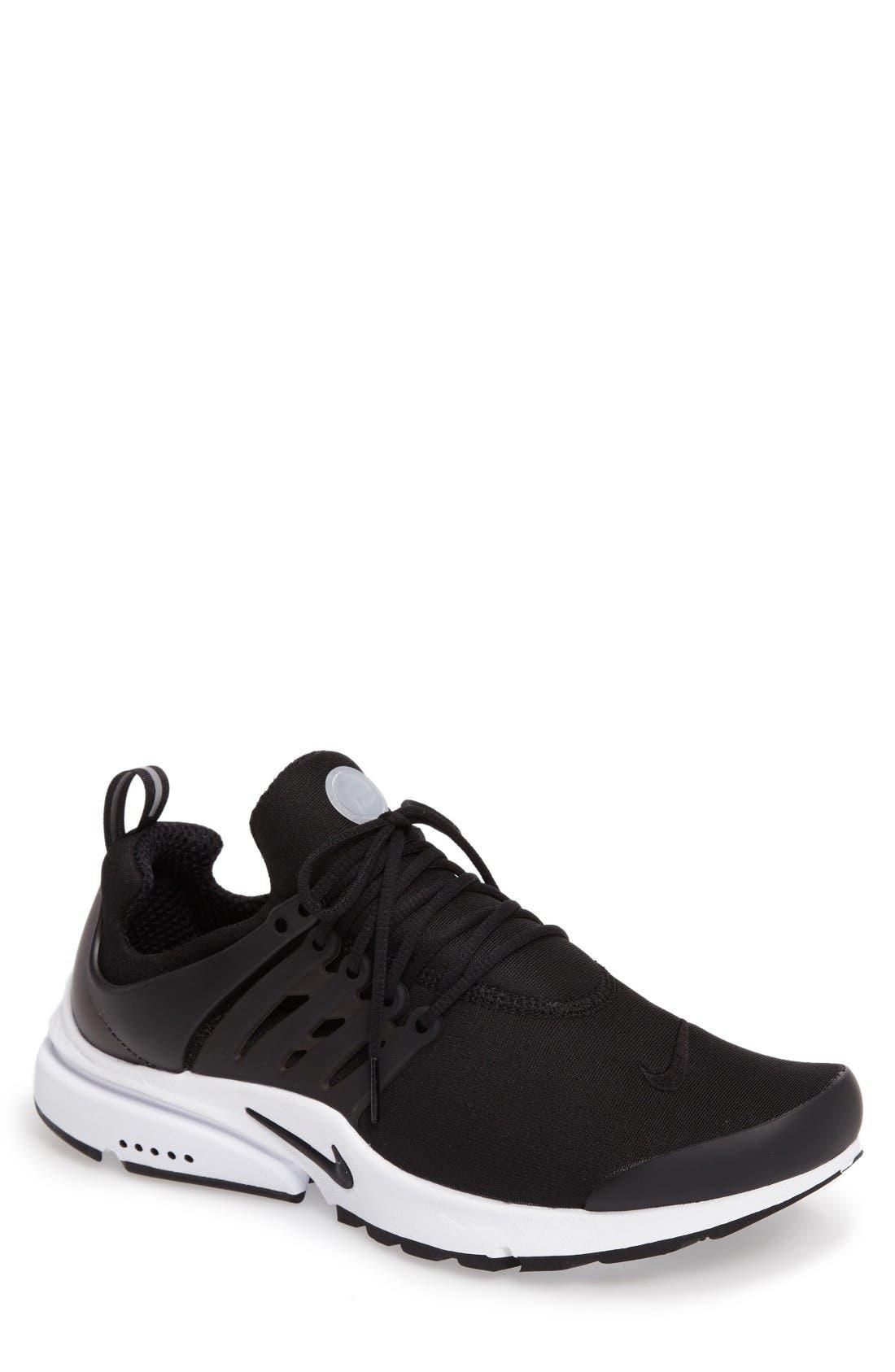 Air Presto Essential Sneaker,                         Main,                         color, Black/ Black/ White