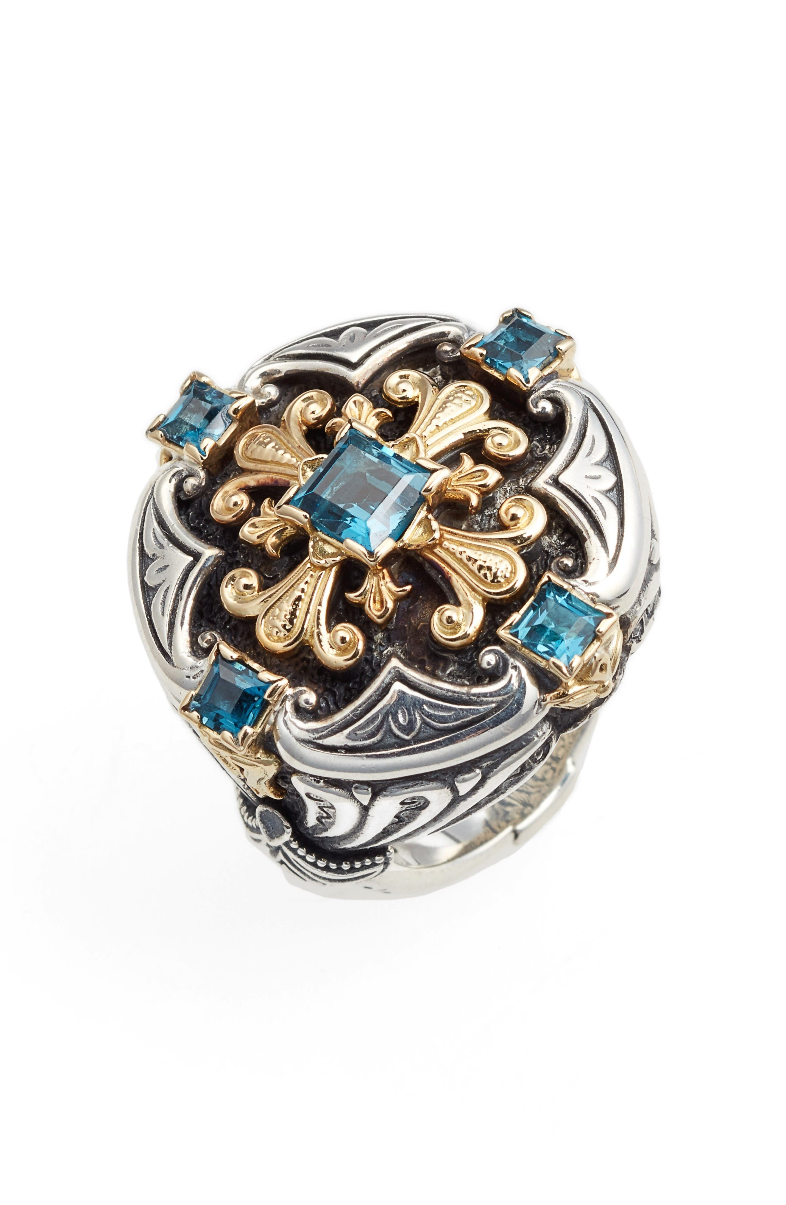 Statement Ring,                         Main,                         color, London Blue Topaz