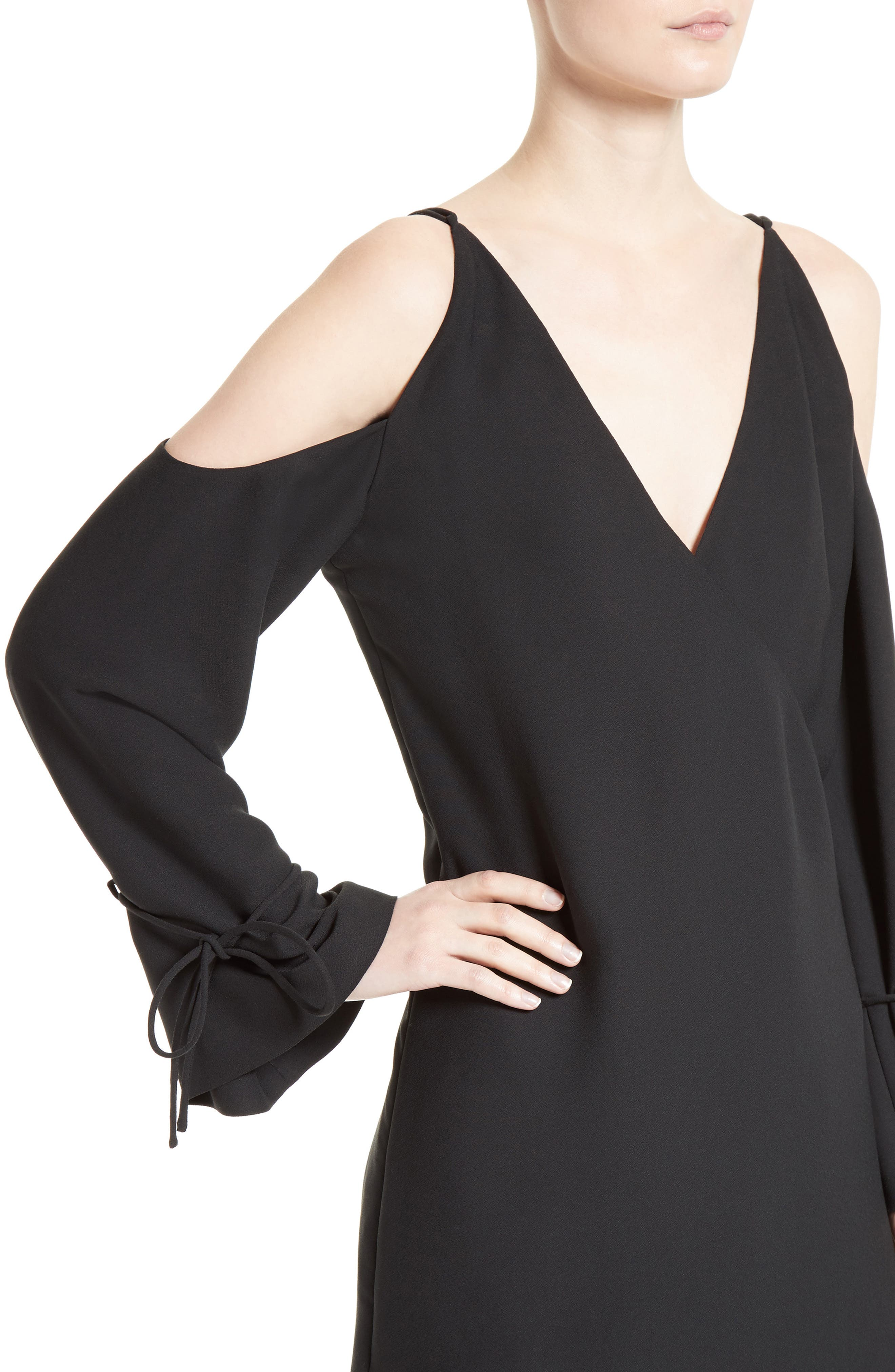 Alternate Image 4  - IRO Lebeca Surplice Cold Shoulder Dress