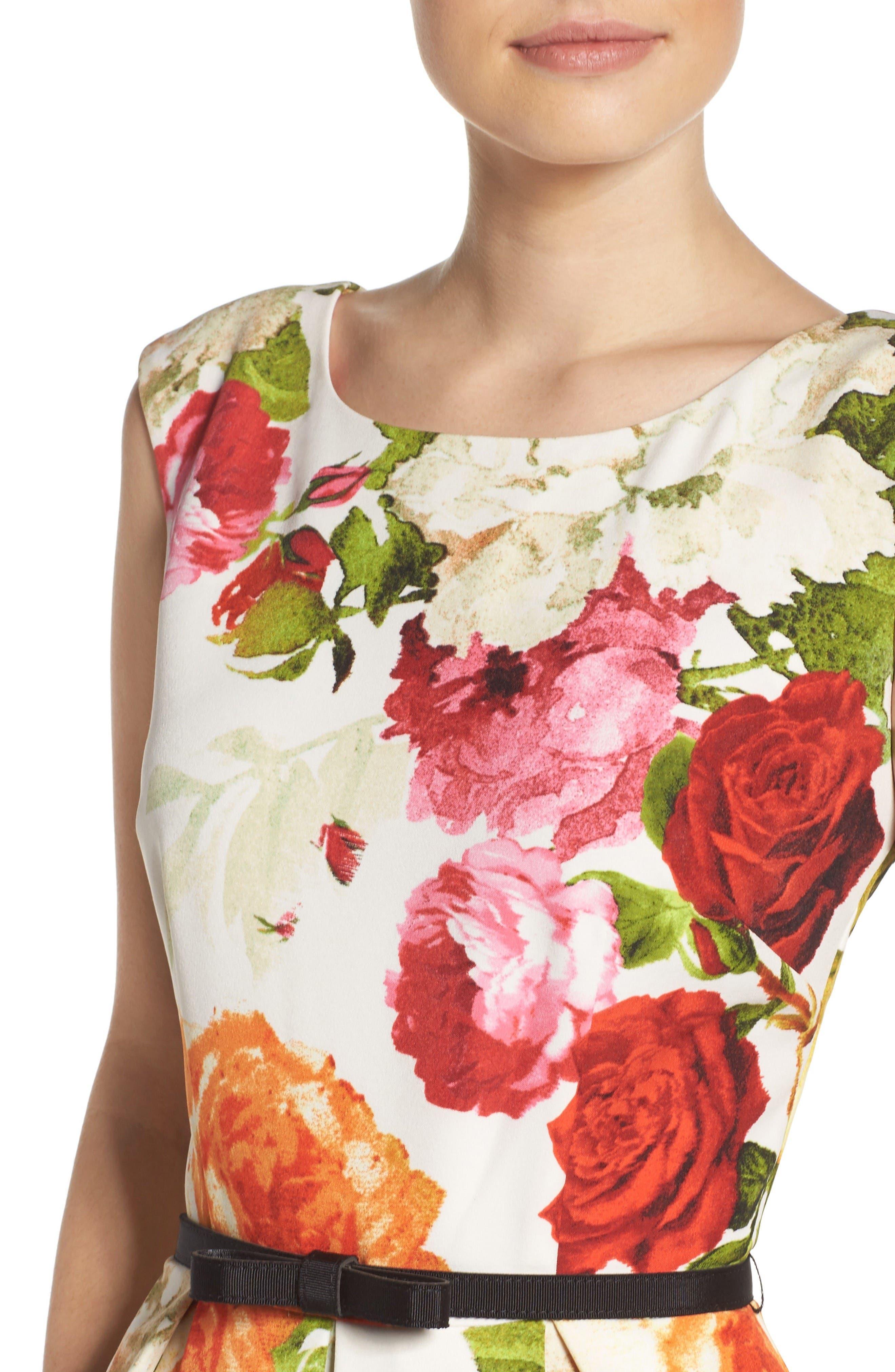 Alternate Image 5  - Gabby Skye Floral Fit & Flare Dress